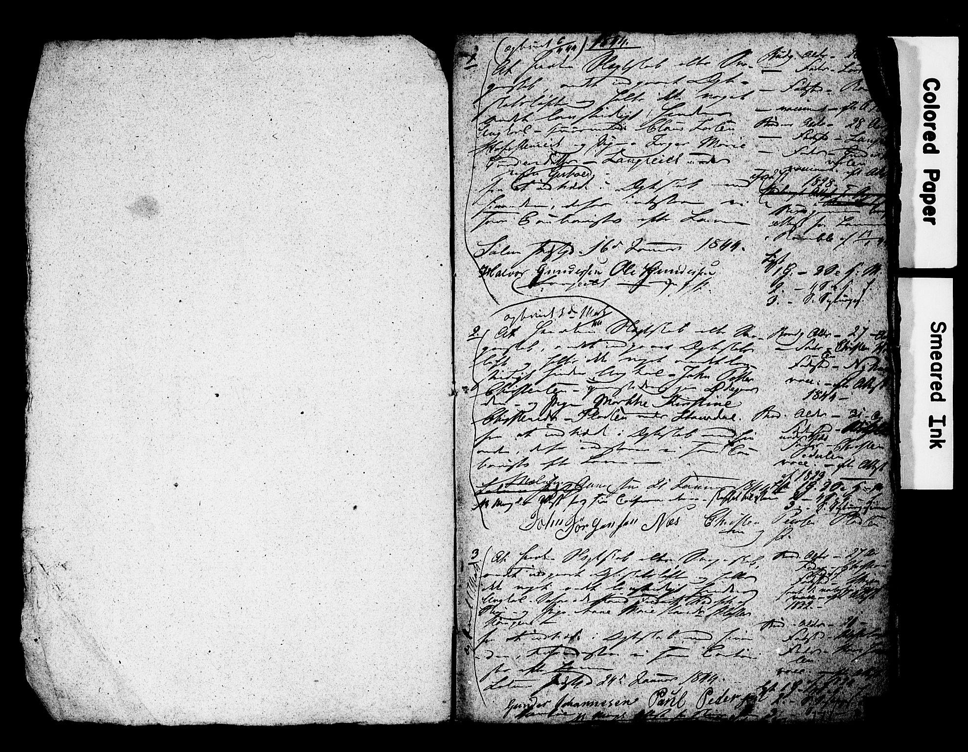SAKO, Solum kirkebøker, H/Hc/L0002: Forlovererklæringer nr. 2, 1844-1846