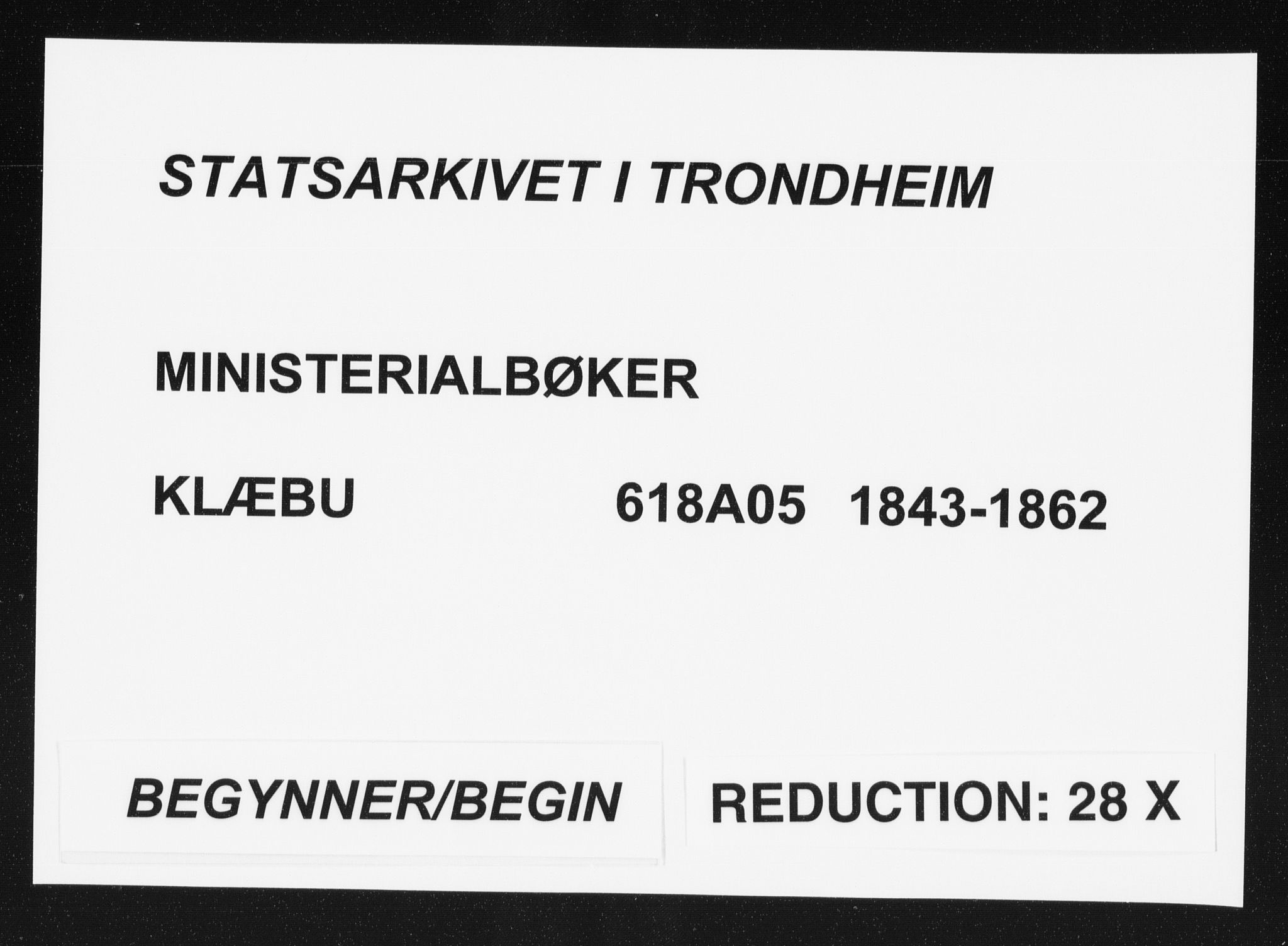 SAT, Ministerialprotokoller, klokkerbøker og fødselsregistre - Sør-Trøndelag, 618/L0441: Ministerialbok nr. 618A05, 1843-1862