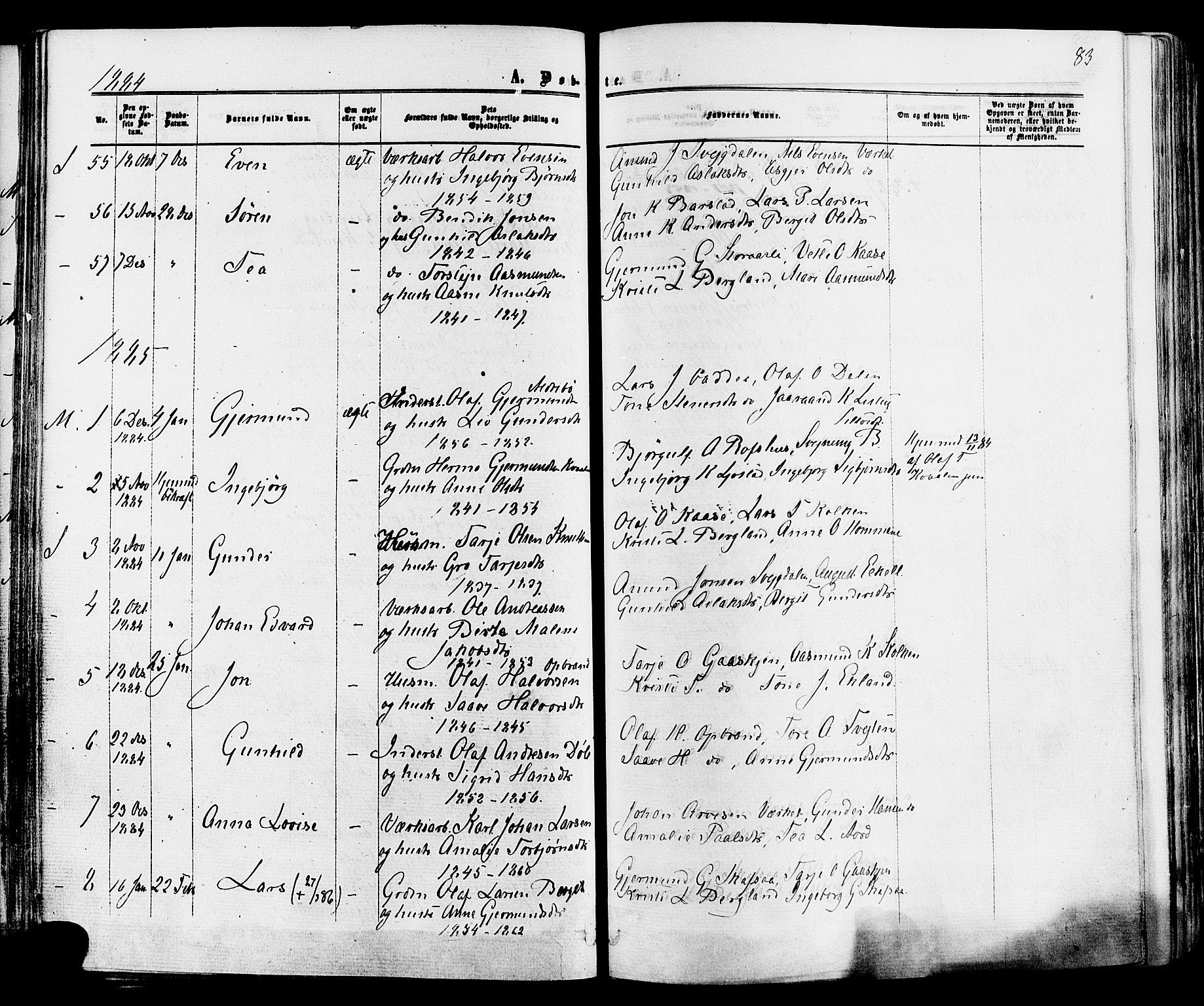 SAKO, Mo kirkebøker, F/Fa/L0006: Ministerialbok nr. I 6, 1865-1885, s. 83