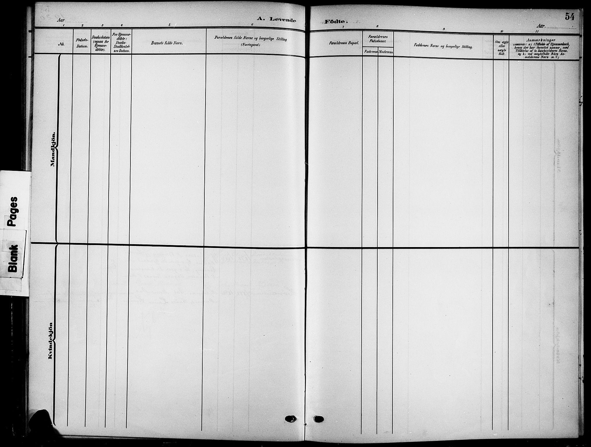 SAH, Nord-Aurdal prestekontor, Klokkerbok nr. 12, 1907-1920, s. 54