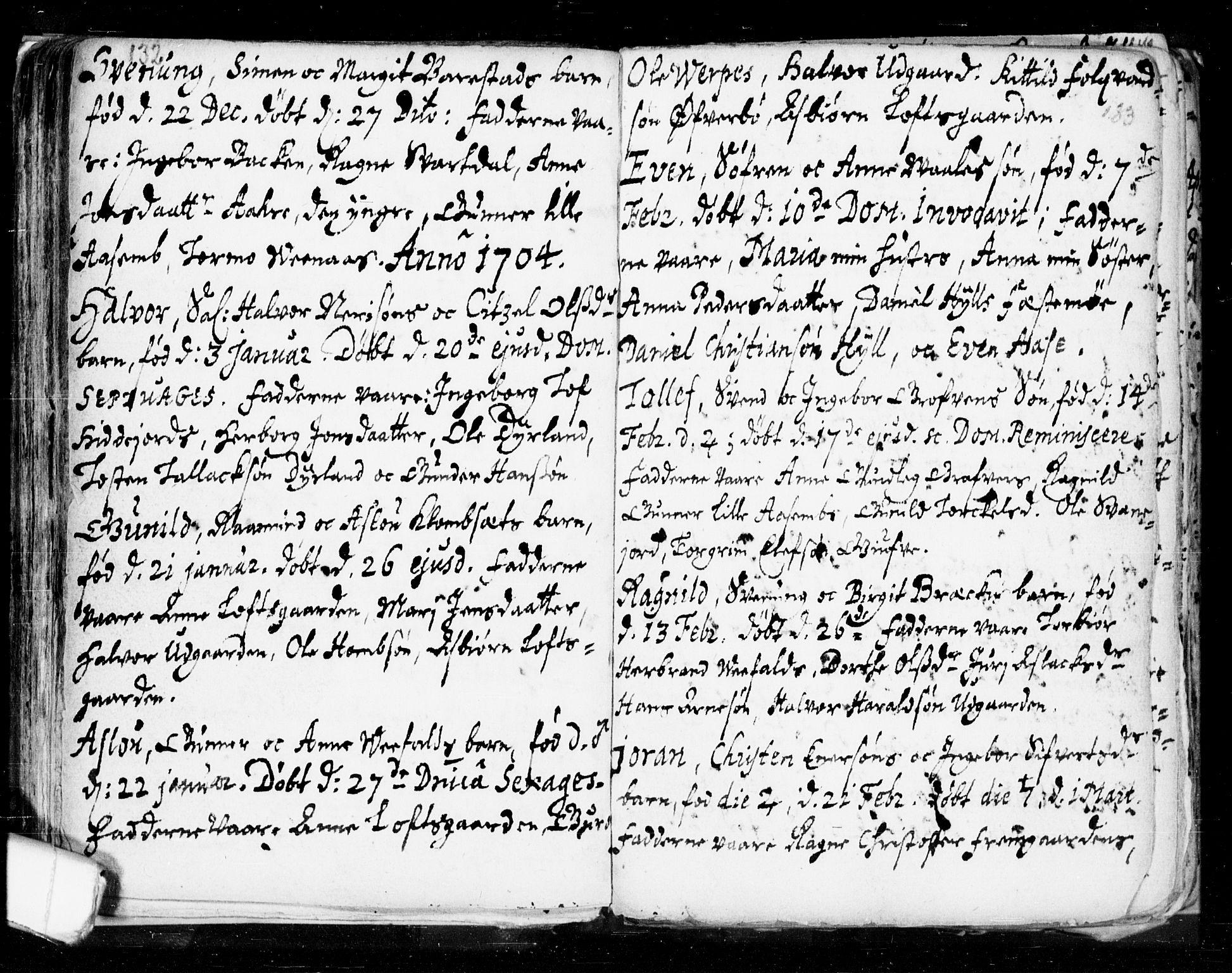 SAKO, Seljord kirkebøker, F/Fa/L0002: Ministerialbok nr. I 2, 1689-1713, s. 132-133