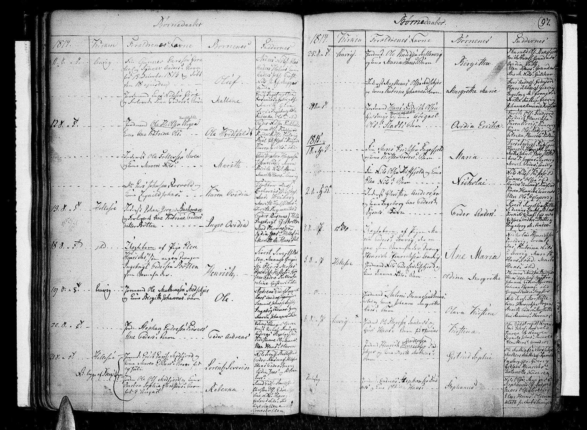 SATØ, Lenvik sokneprestembete, H/Ha/Haa/L0002kirke: Ministerialbok nr. 2, 1784-1820, s. 97
