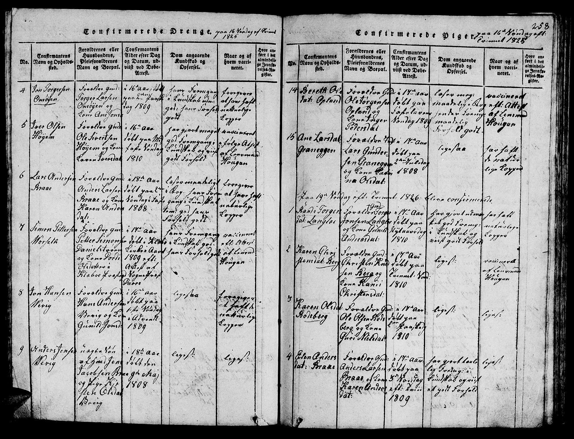 SAT, Ministerialprotokoller, klokkerbøker og fødselsregistre - Sør-Trøndelag, 612/L0385: Klokkerbok nr. 612C01, 1816-1845, s. 258