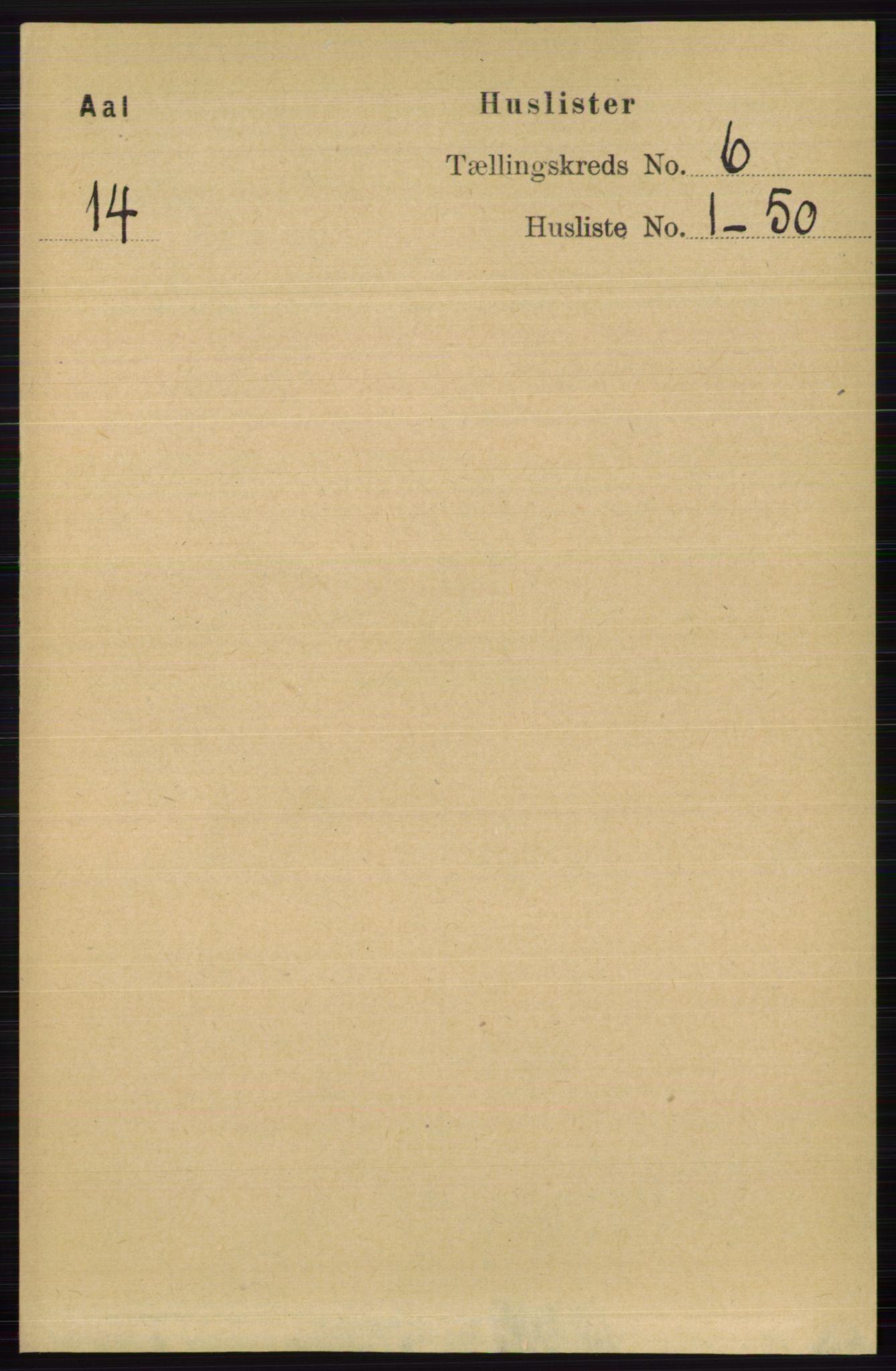 RA, Folketelling 1891 for 0619 Ål herred, 1891, s. 1468