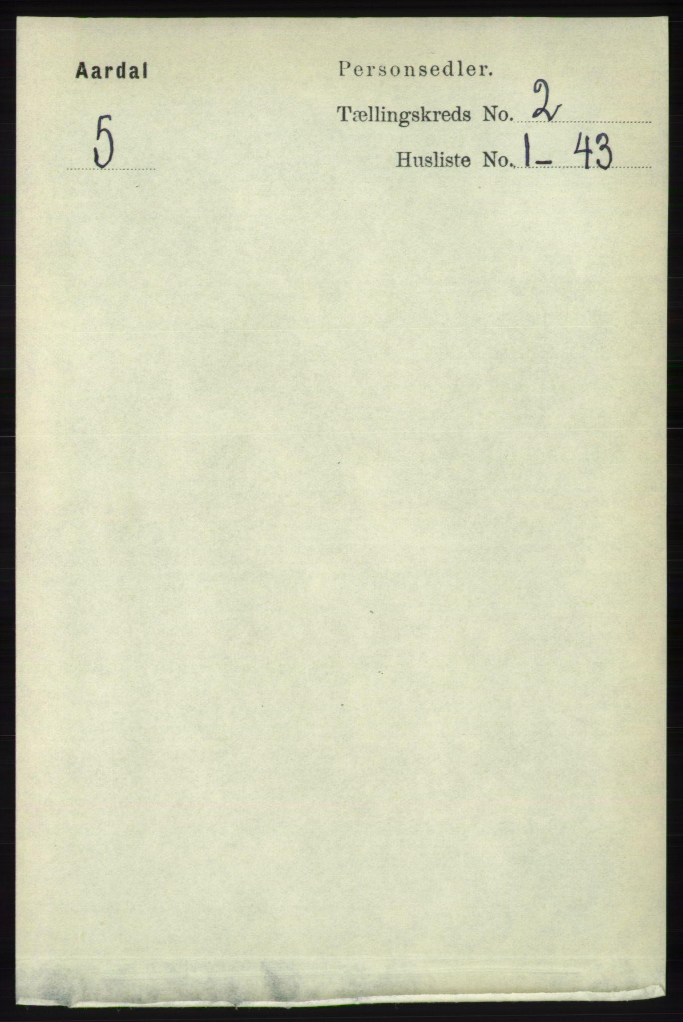 RA, Folketelling 1891 for 1131 Årdal herred, 1891, s. 573