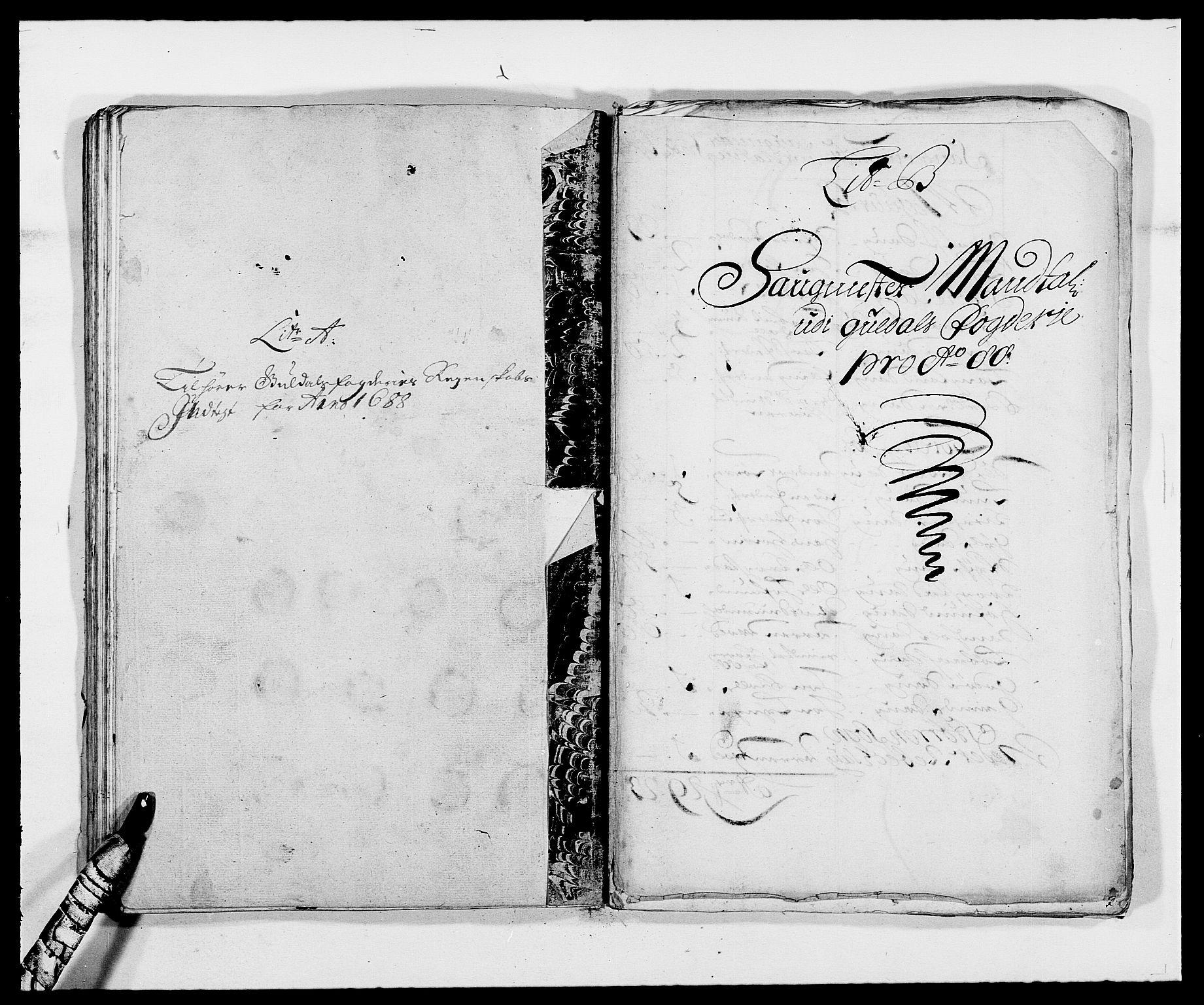 RA, Rentekammeret inntil 1814, Reviderte regnskaper, Fogderegnskap, R59/L3939: Fogderegnskap Gauldal, 1687-1688, s. 185