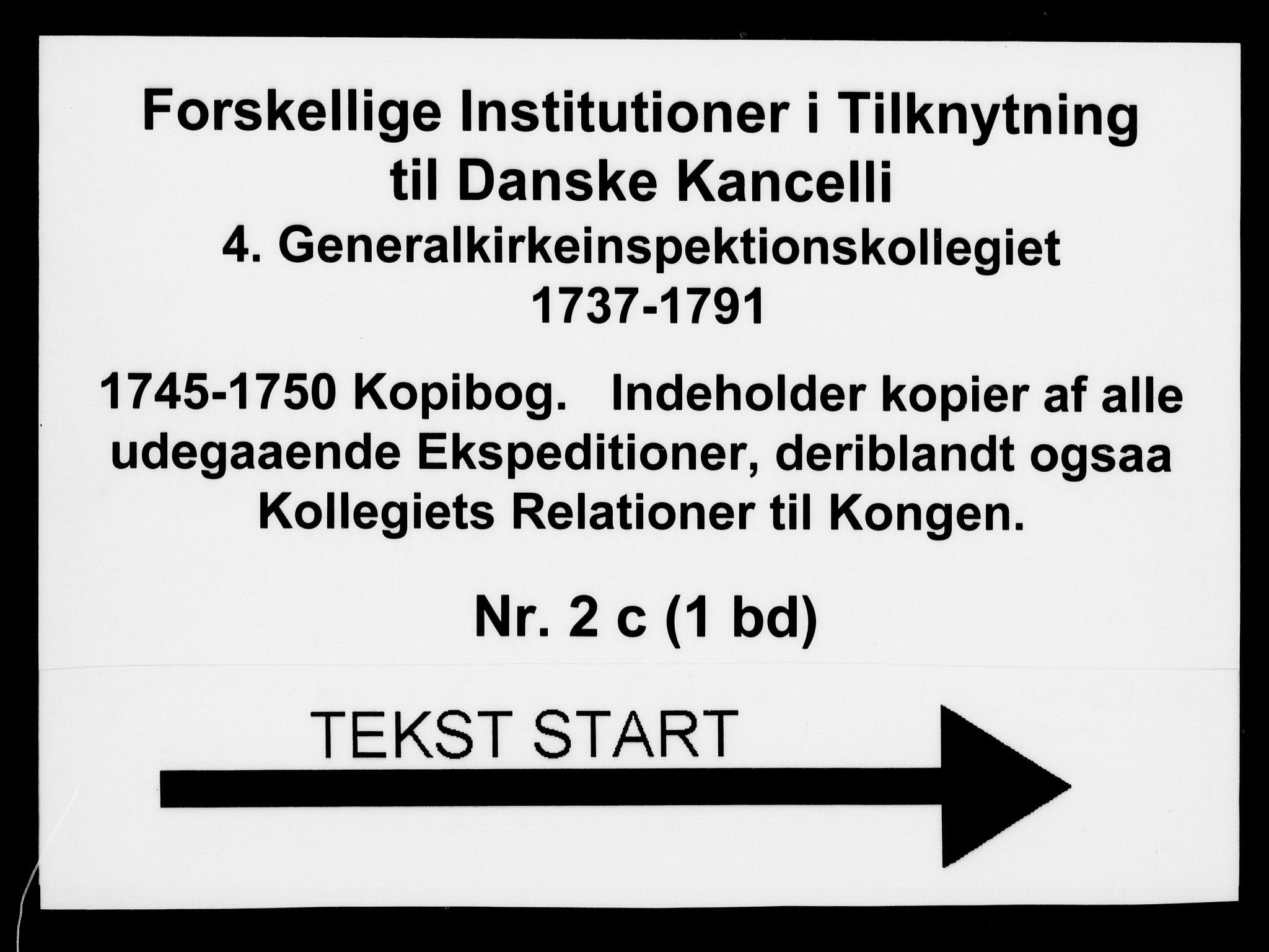 DRA, Generalkirkeinspektionskollegiet, F4-02/F4-02-03: Kopibog, 1745-1750