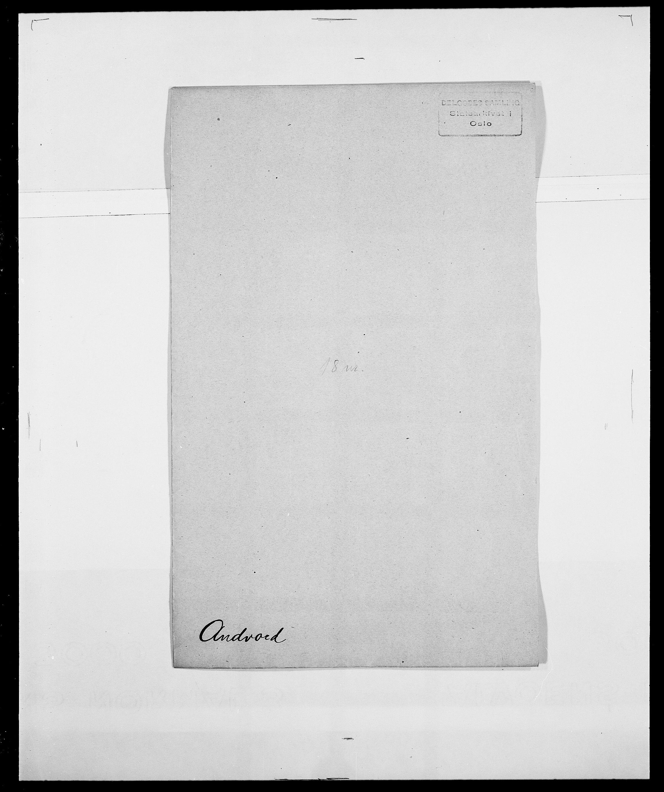 SAO, Delgobe, Charles Antoine - samling, D/Da/L0002: Anker, Ancher - Bauner, s. 11