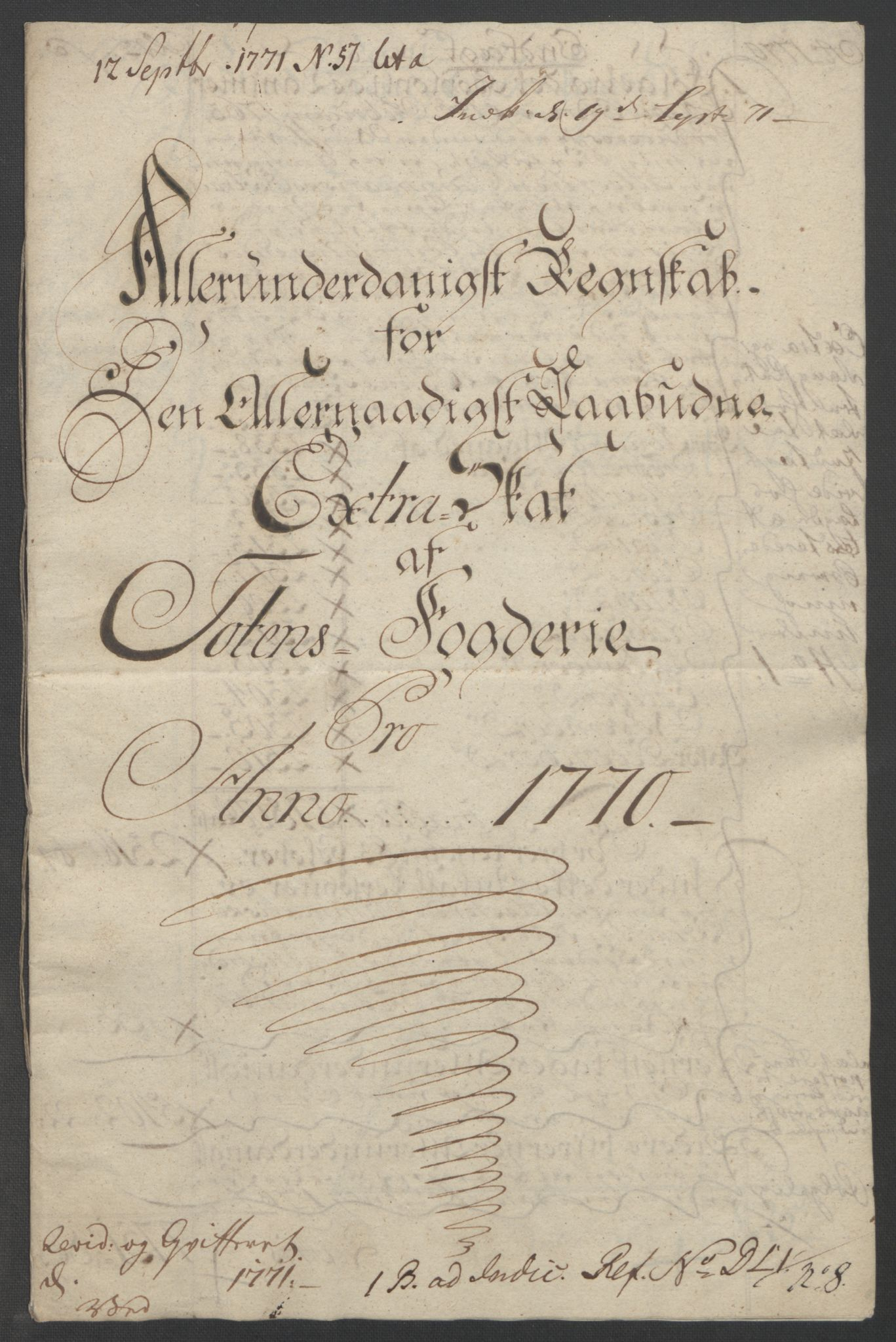 RA, Rentekammeret inntil 1814, Reviderte regnskaper, Fogderegnskap, R19/L1399: Fogderegnskap Toten, Hadeland og Vardal, 1762-1783, s. 201
