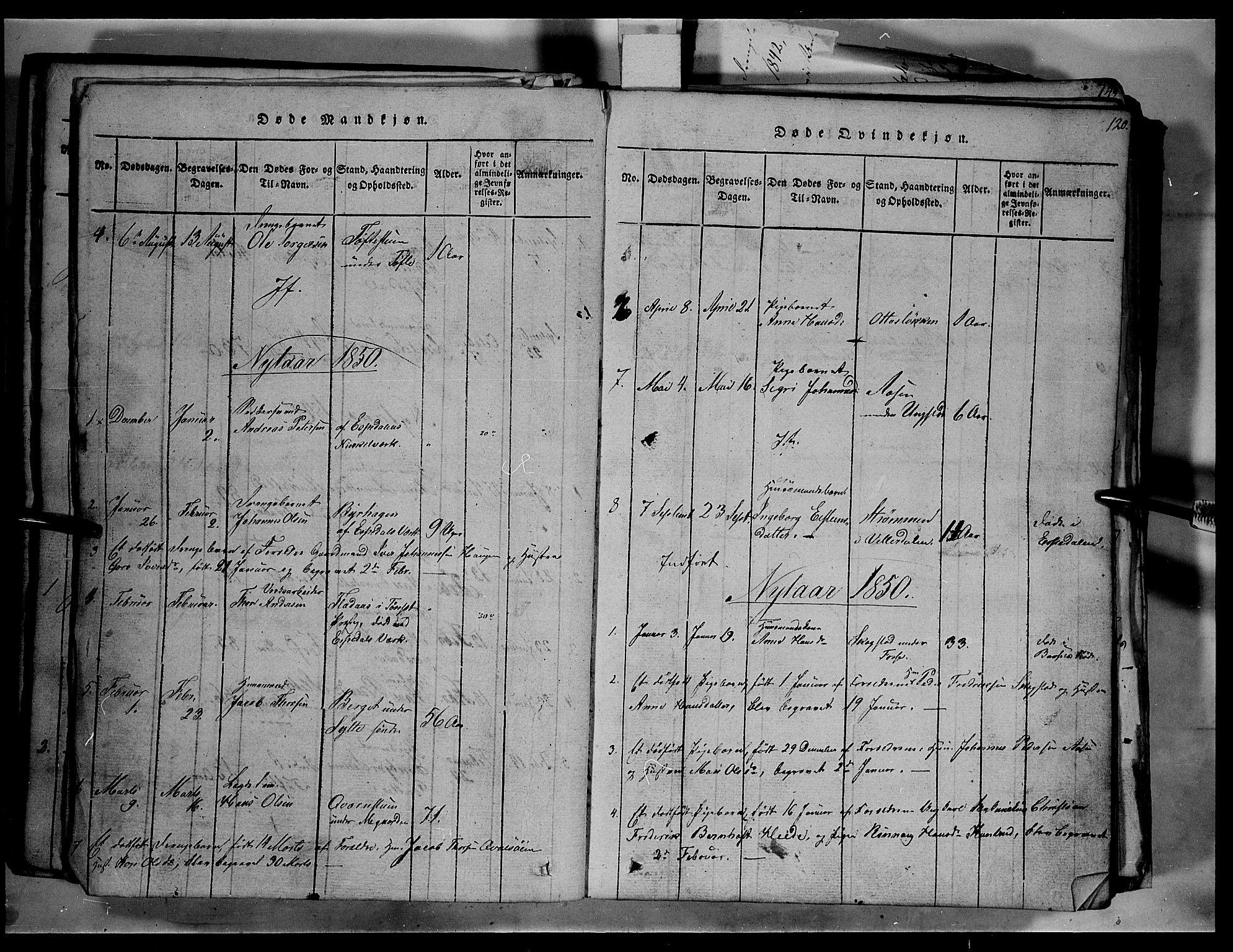 SAH, Fron prestekontor, H/Ha/Hab/L0003: Klokkerbok nr. 3, 1816-1850, s. 120