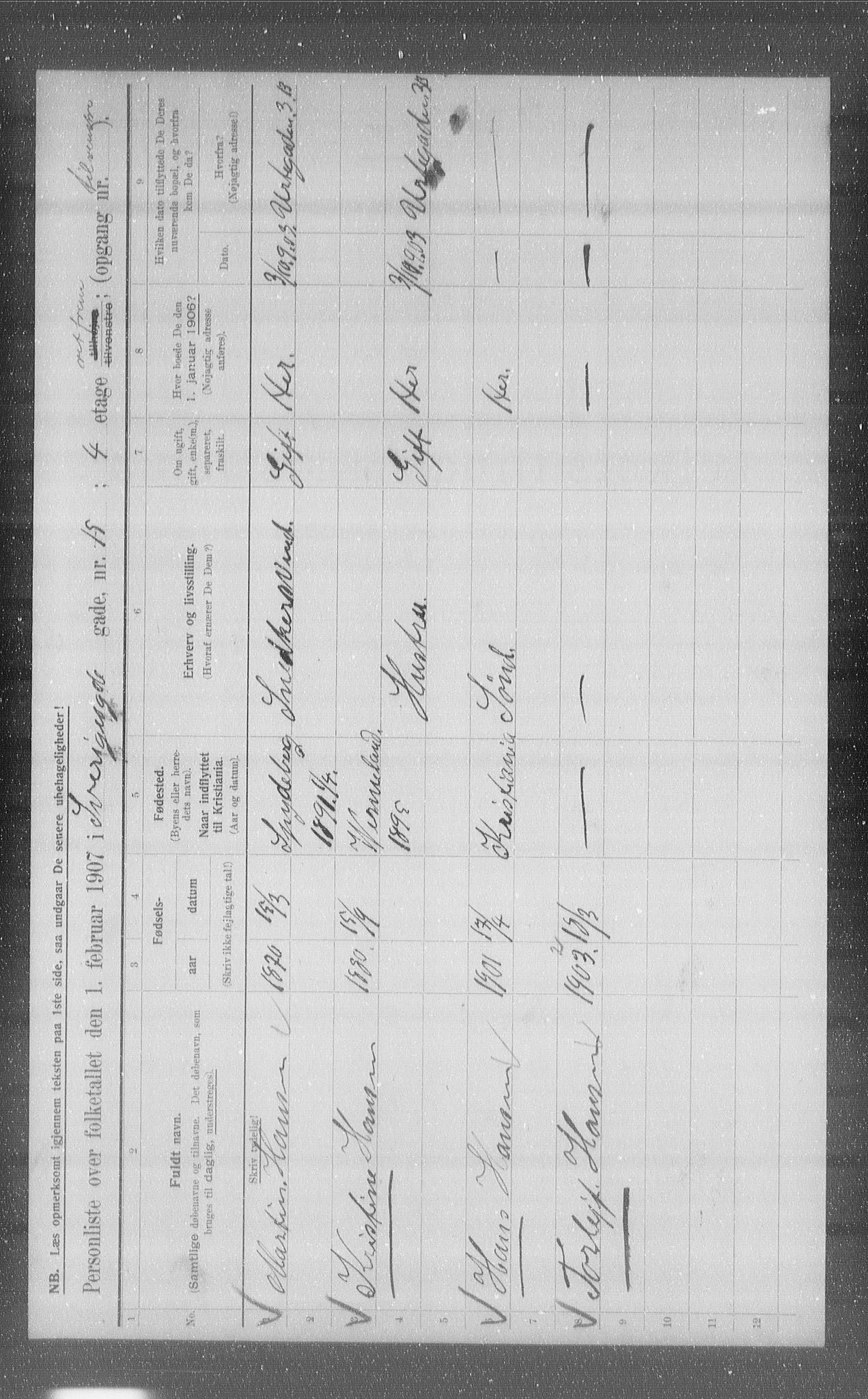 OBA, Kommunal folketelling 1907 for Kristiania kjøpstad, 1907, s. 53897