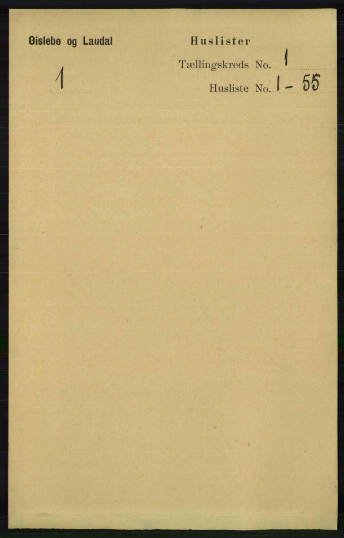 RA, Folketelling 1891 for 1021 Øyslebø og Laudal herred, 1891, s. 23