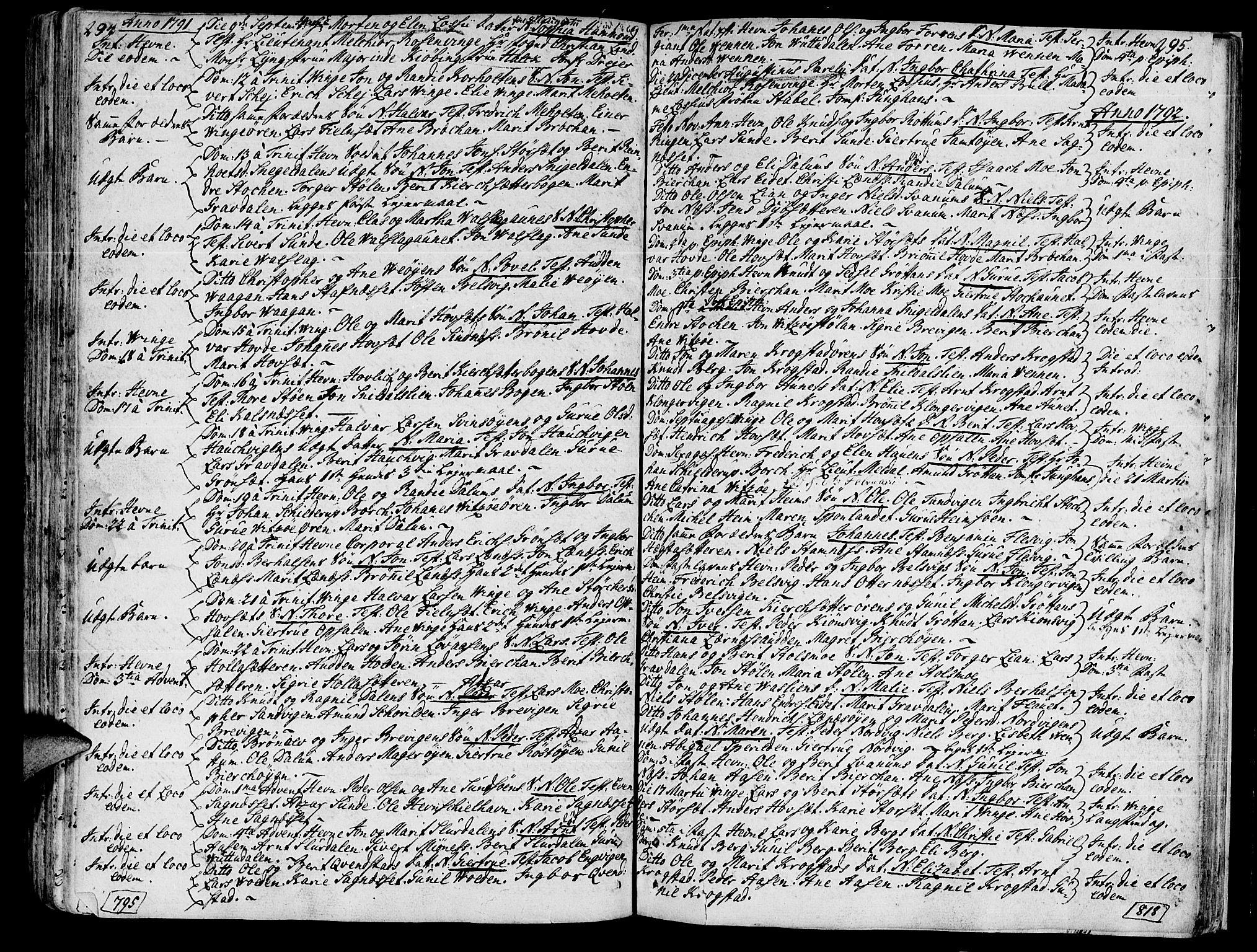 SAT, Ministerialprotokoller, klokkerbøker og fødselsregistre - Sør-Trøndelag, 630/L0489: Ministerialbok nr. 630A02, 1757-1794, s. 294-295