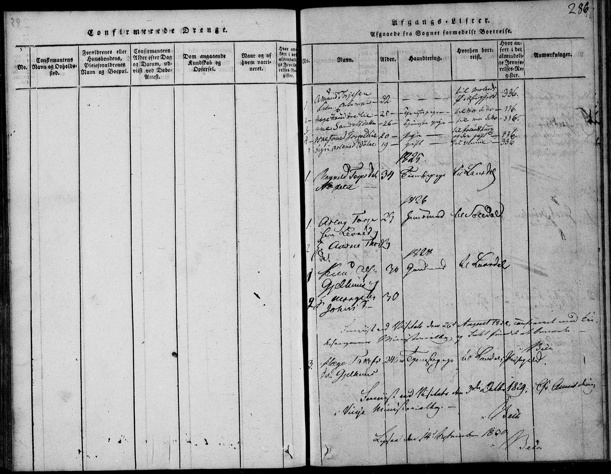 SAKO, Vinje kirkebøker, F/Fb/L0001: Ministerialbok nr. II 1, 1814-1843, s. 286