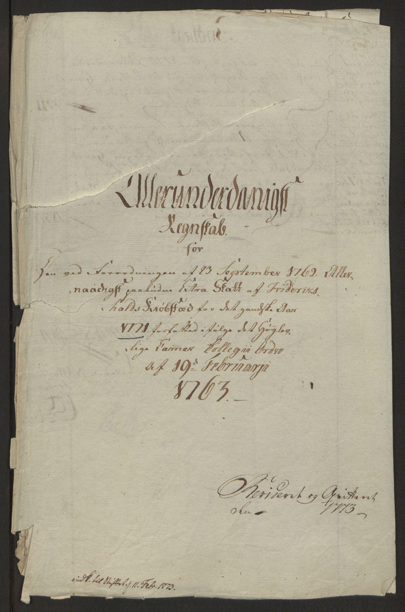 RA, Rentekammeret inntil 1814, Reviderte regnskaper, Byregnskaper, R/Ra/L0006: [A4] Kontribusjonsregnskap, 1762-1772, s. 223