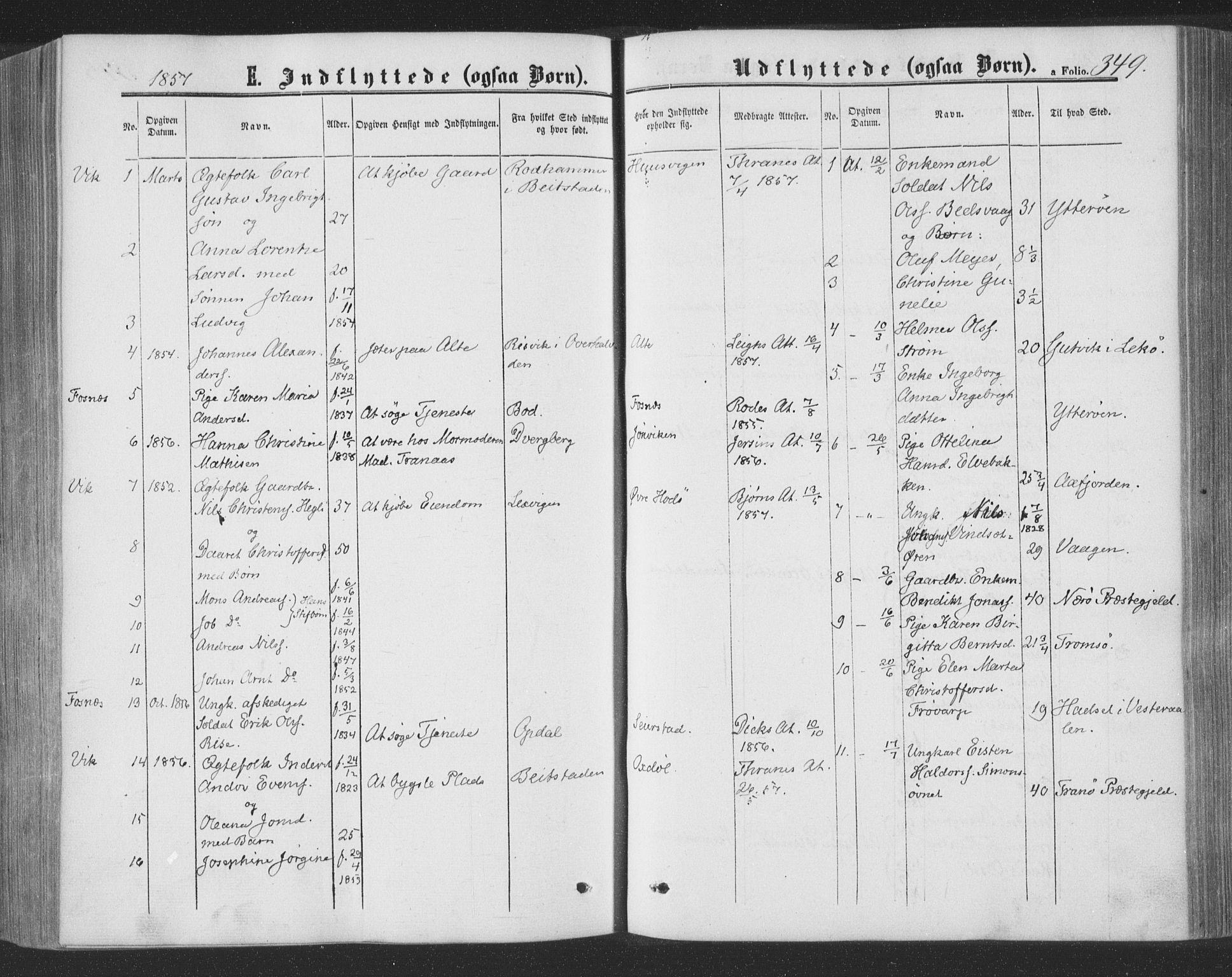 SAT, Ministerialprotokoller, klokkerbøker og fødselsregistre - Nord-Trøndelag, 773/L0615: Ministerialbok nr. 773A06, 1857-1870, s. 349