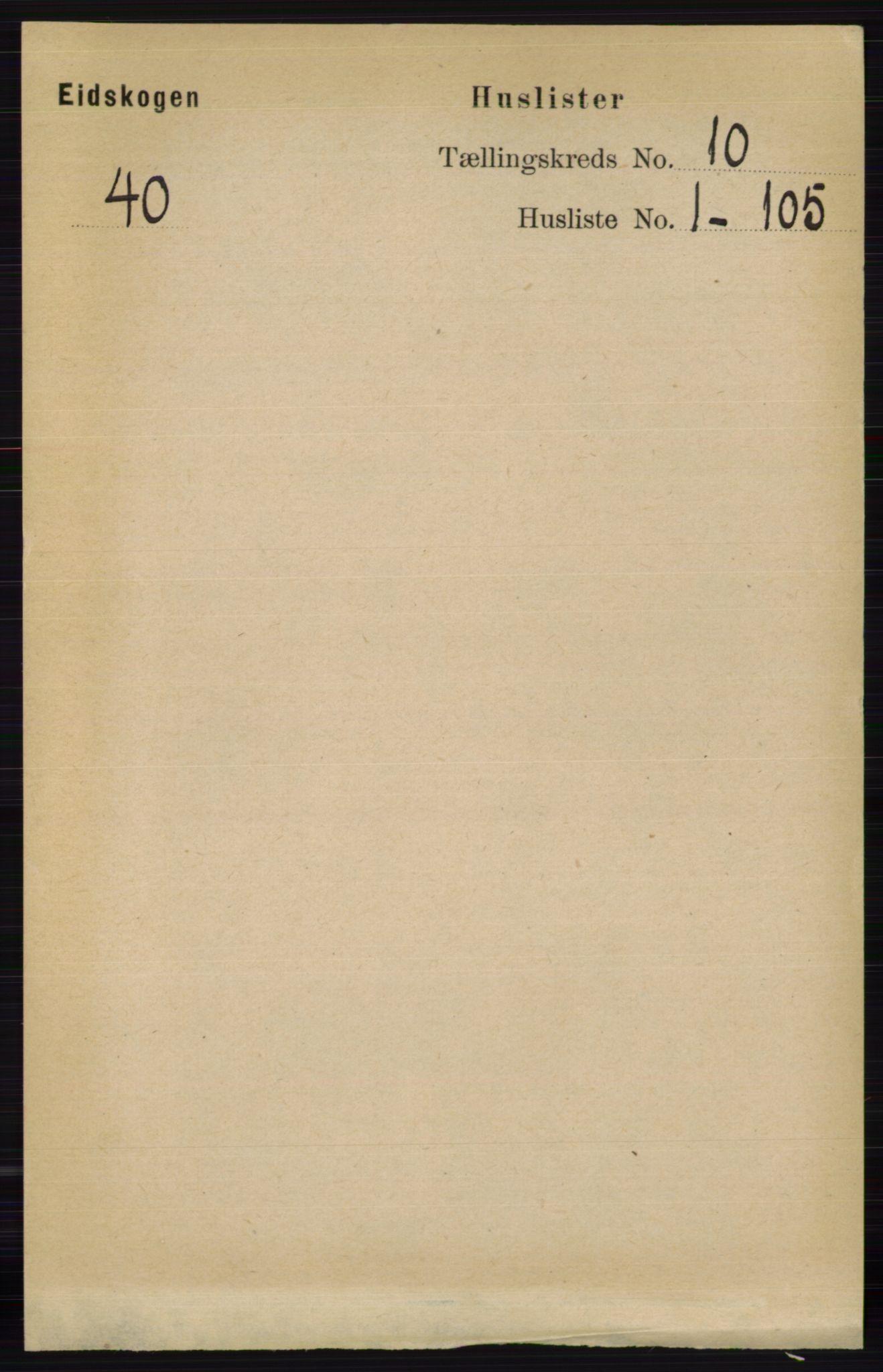 RA, Folketelling 1891 for 0420 Eidskog herred, 1891, s. 6013