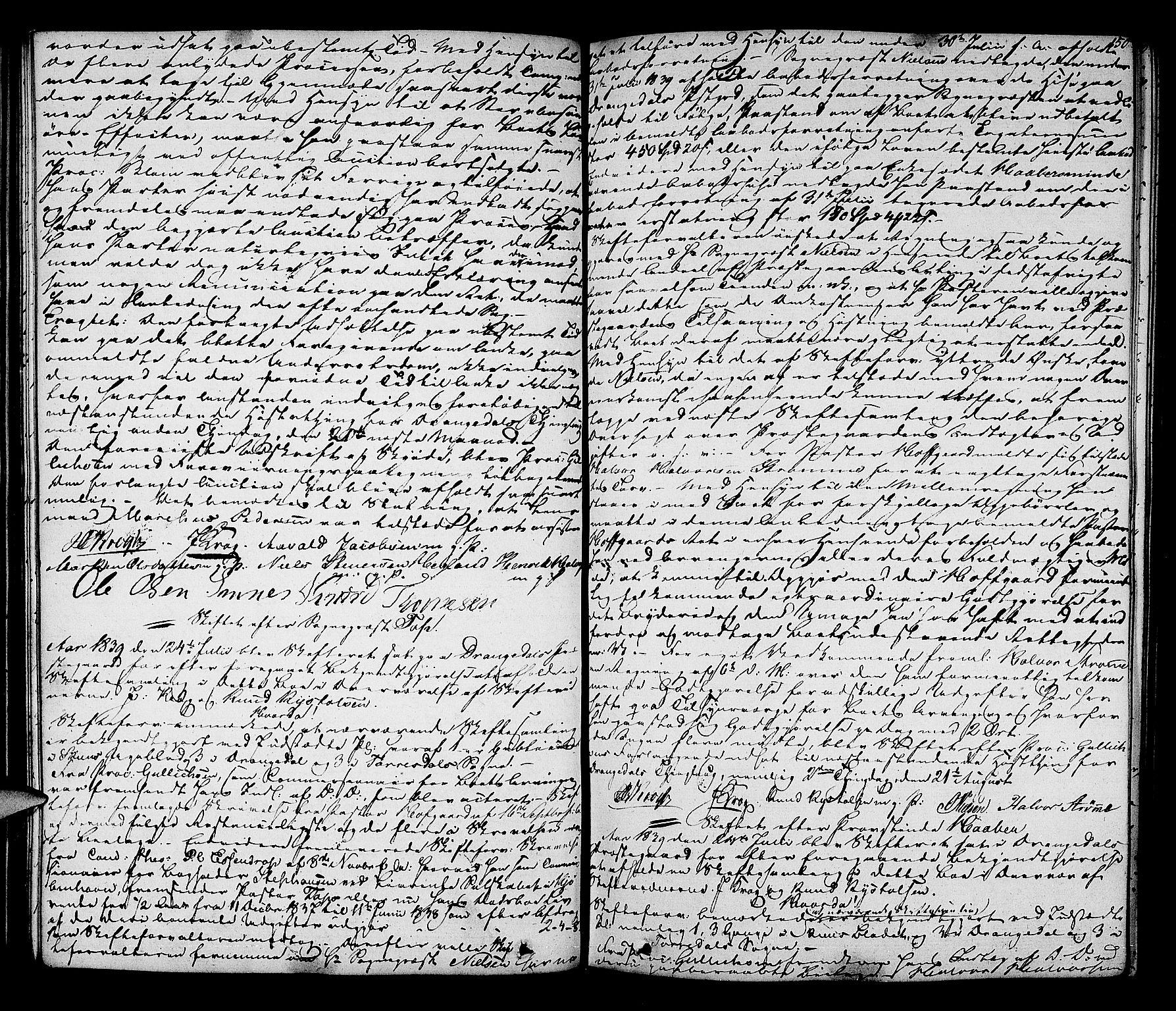SAKO, Bamble sorenskriveri, H/Hb/Hbc/L0001: Skifteforhandlingsprotokoll, 1837-1847, s. 150