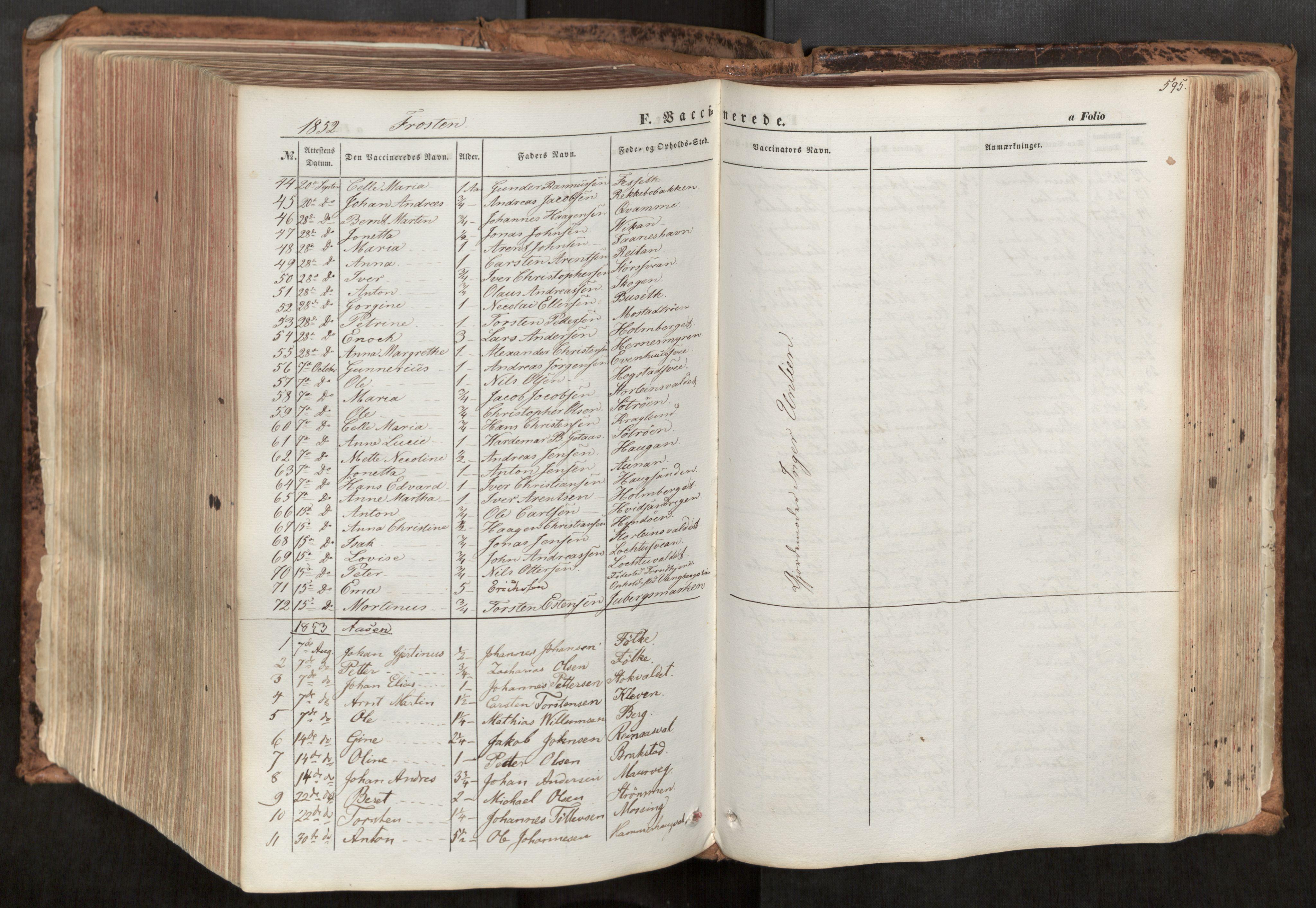 SAT, Ministerialprotokoller, klokkerbøker og fødselsregistre - Nord-Trøndelag, 713/L0116: Ministerialbok nr. 713A07, 1850-1877, s. 595