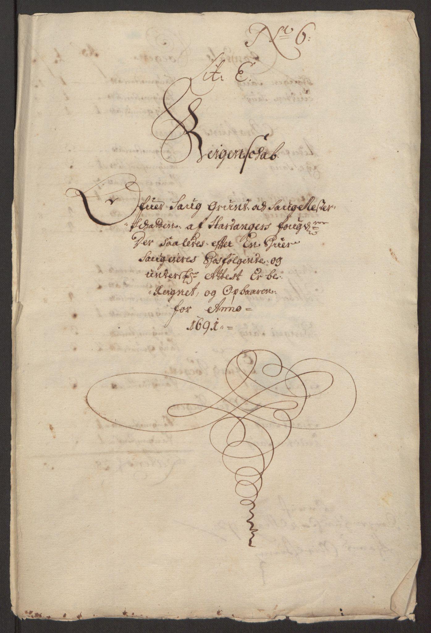 RA, Rentekammeret inntil 1814, Reviderte regnskaper, Fogderegnskap, R48/L2973: Fogderegnskap Sunnhordland og Hardanger, 1691-1692, s. 313