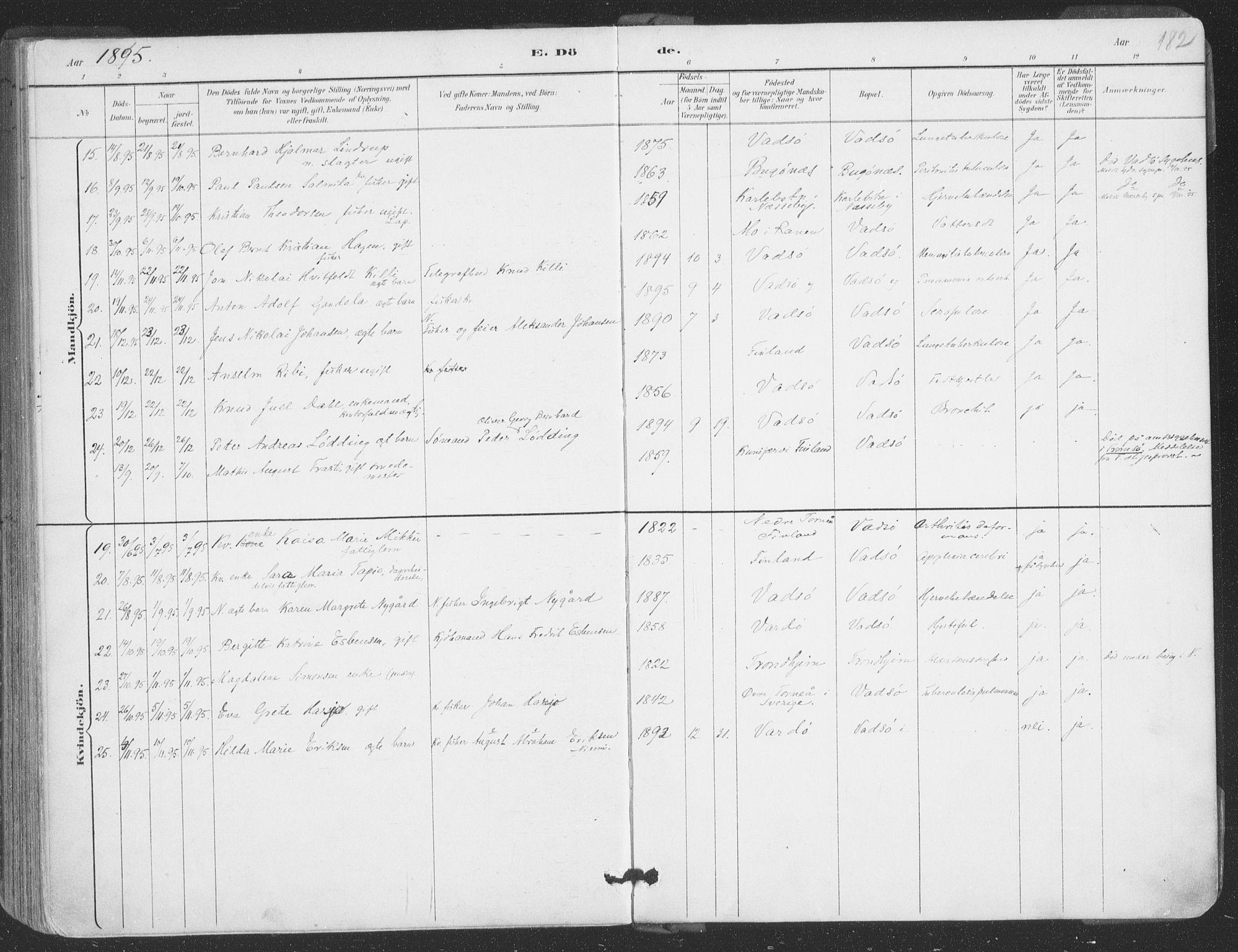 SATØ, Vadsø sokneprestkontor, H/Ha/L0006kirke: Ministerialbok nr. 6, 1885-1895, s. 182