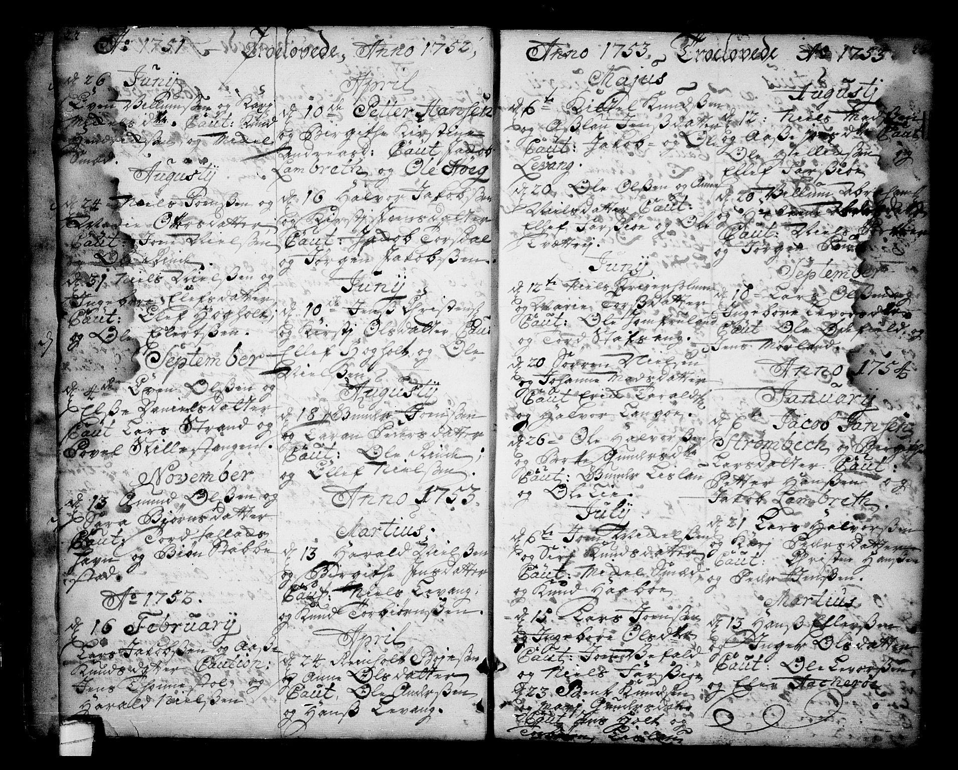 SAKO, Sannidal kirkebøker, F/Fa/L0001: Ministerialbok nr. 1, 1702-1766, s. 22-23