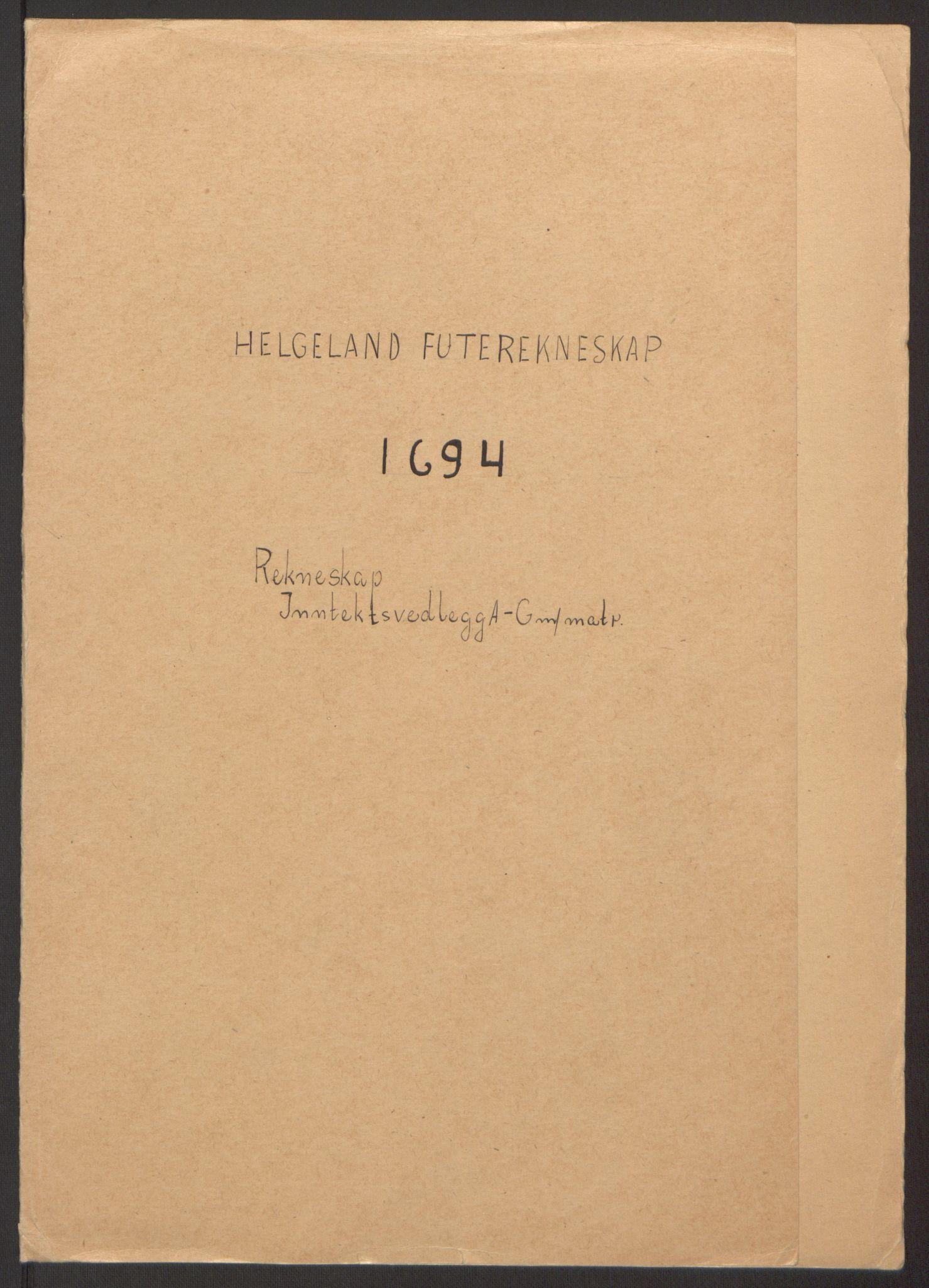 RA, Rentekammeret inntil 1814, Reviderte regnskaper, Fogderegnskap, R65/L4505: Fogderegnskap Helgeland, 1693-1696, s. 151