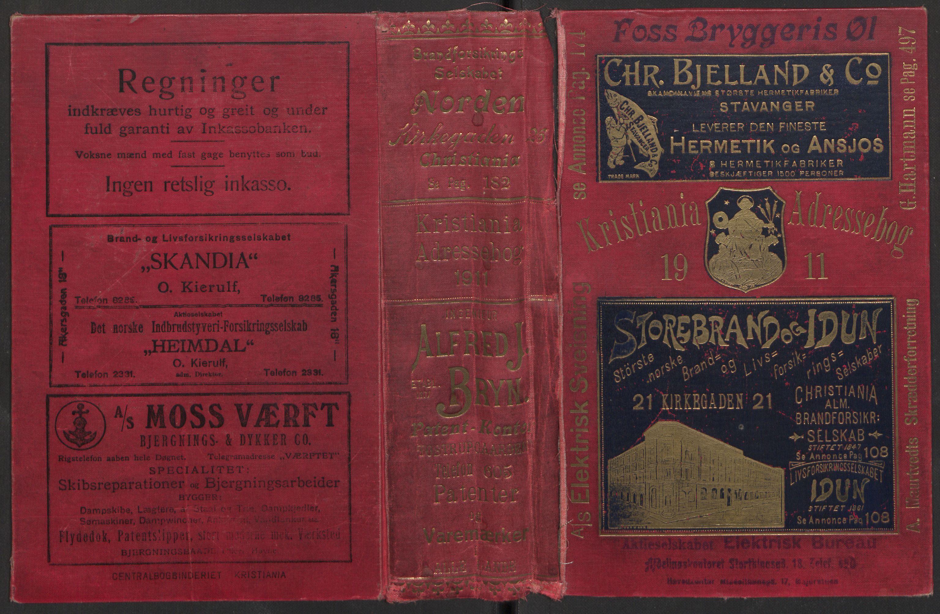 PUBL, Kristiania/Oslo adressebok, 1911