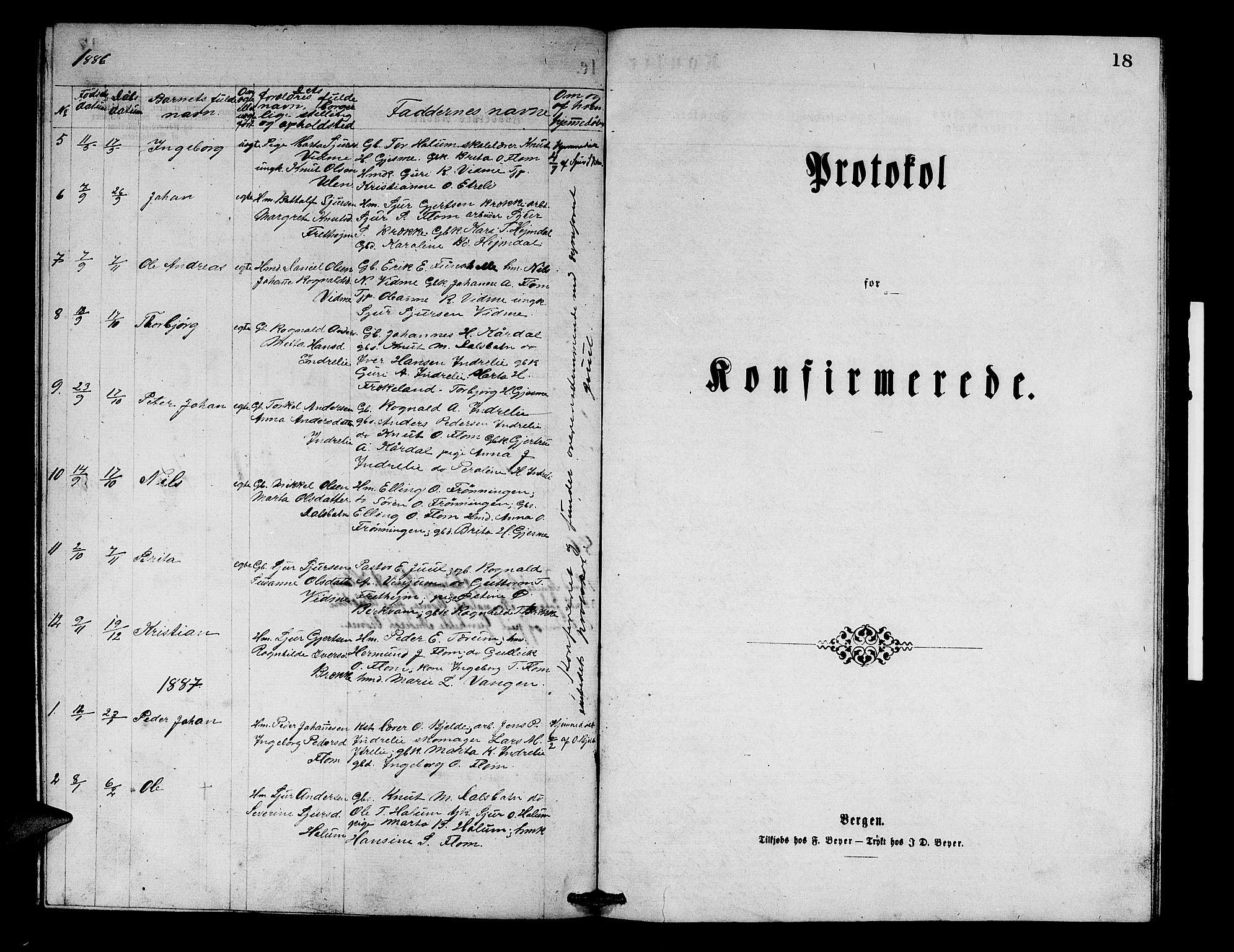 SAB, Aurland Sokneprestembete*, Klokkerbok nr. B 1, 1868-1887, s. 18