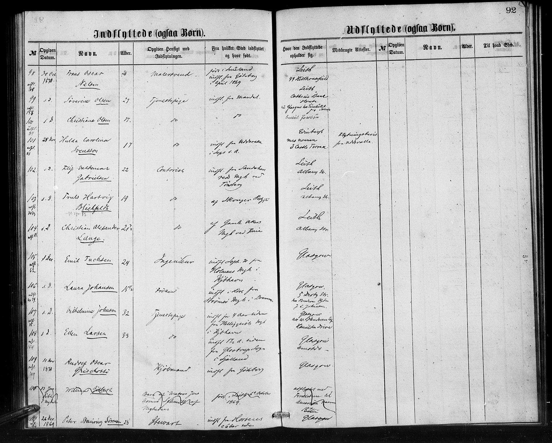 SAB, Den Norske Sjømannsmisjon i utlandet*, Ministerialbok nr. A 1, 1865-1880, s. 92
