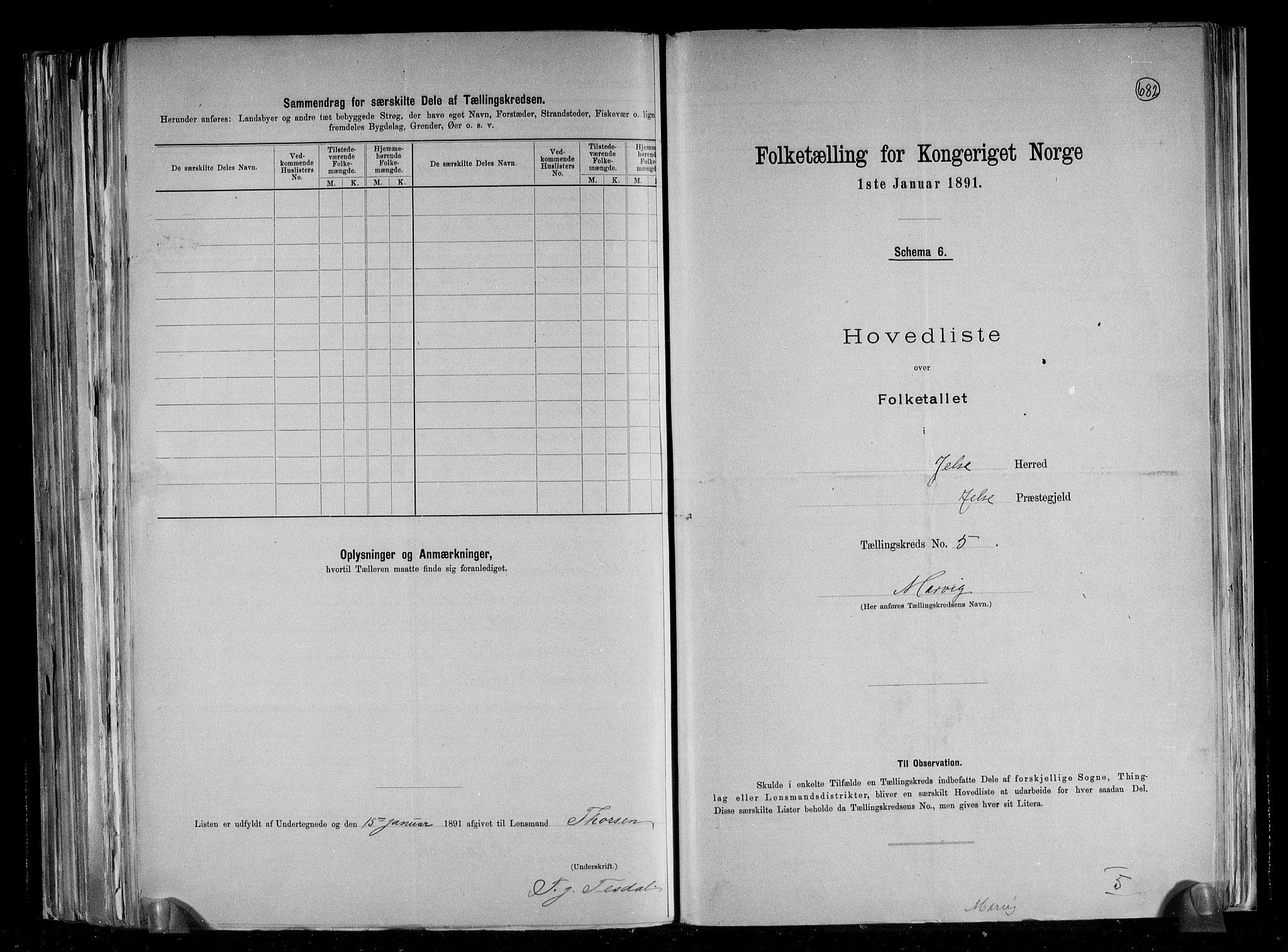 RA, Folketelling 1891 for 1138 Jelsa herred, 1891, s. 14