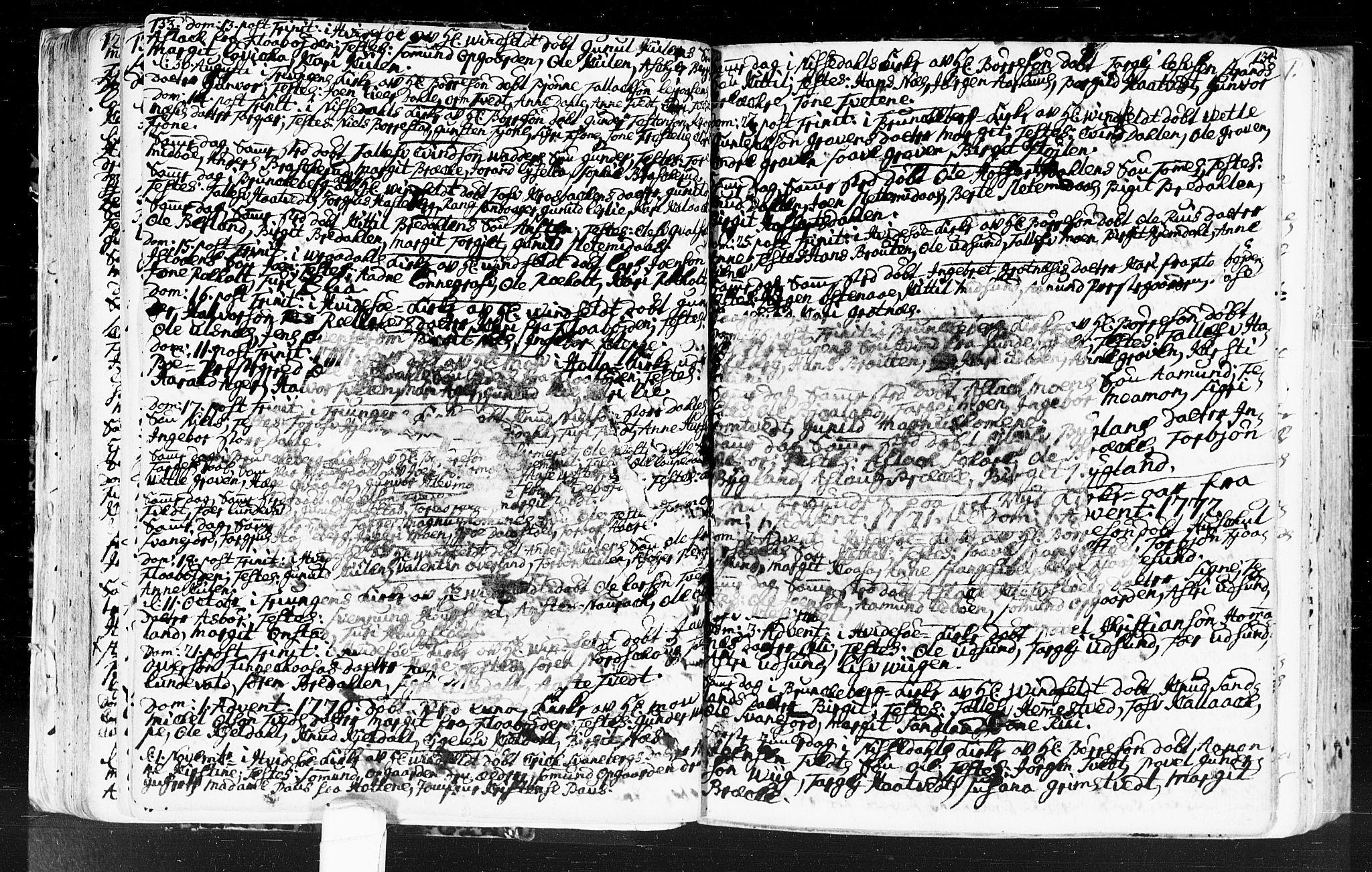 SAKO, Kviteseid kirkebøker, F/Fa/L0001: Ministerialbok nr. I 1, 1754-1773, s. 133-134
