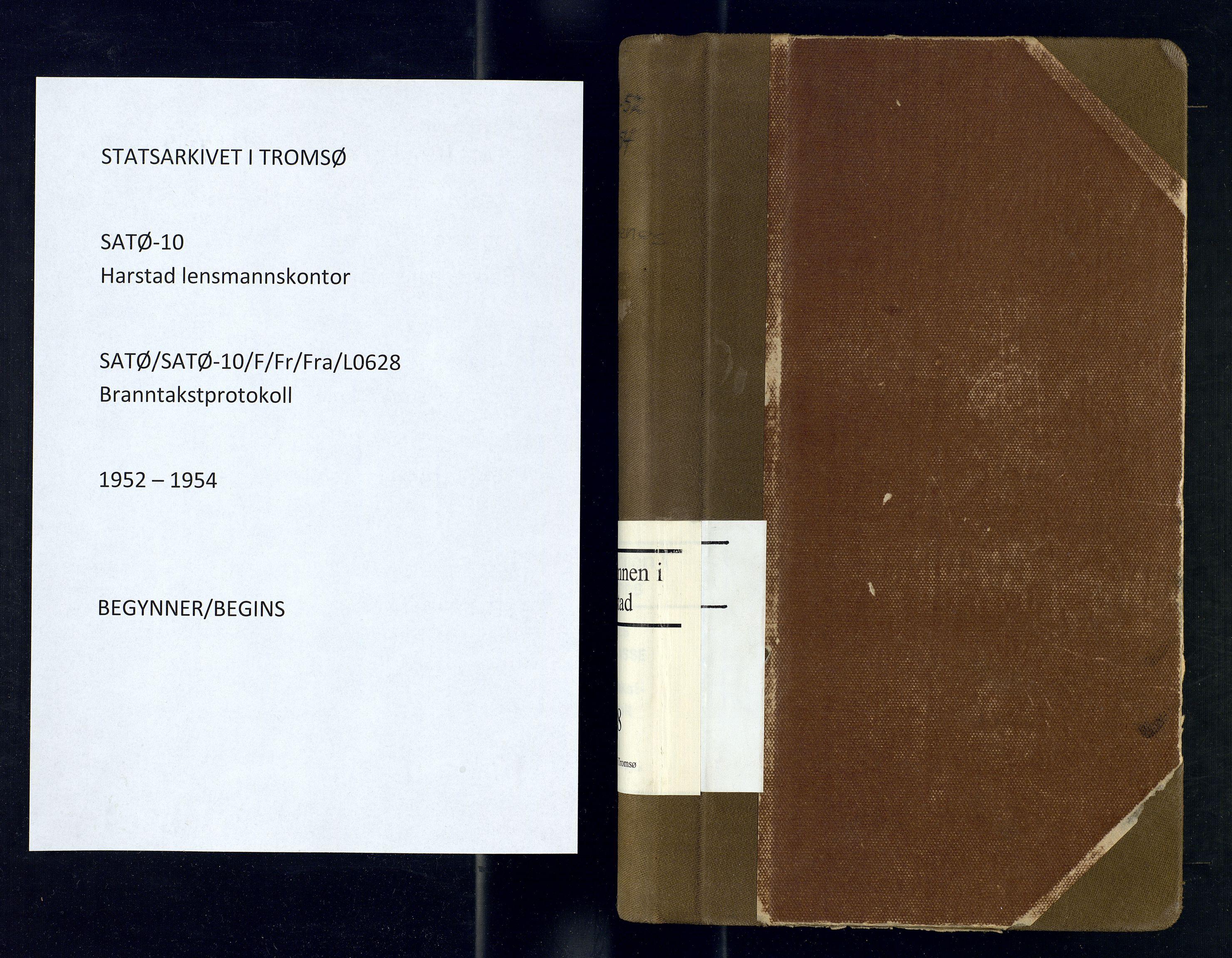 SATØ, Harstad lensmannskontor, F/Fr/Fra/L0628: Branntakstprotokoll, 1952-1954