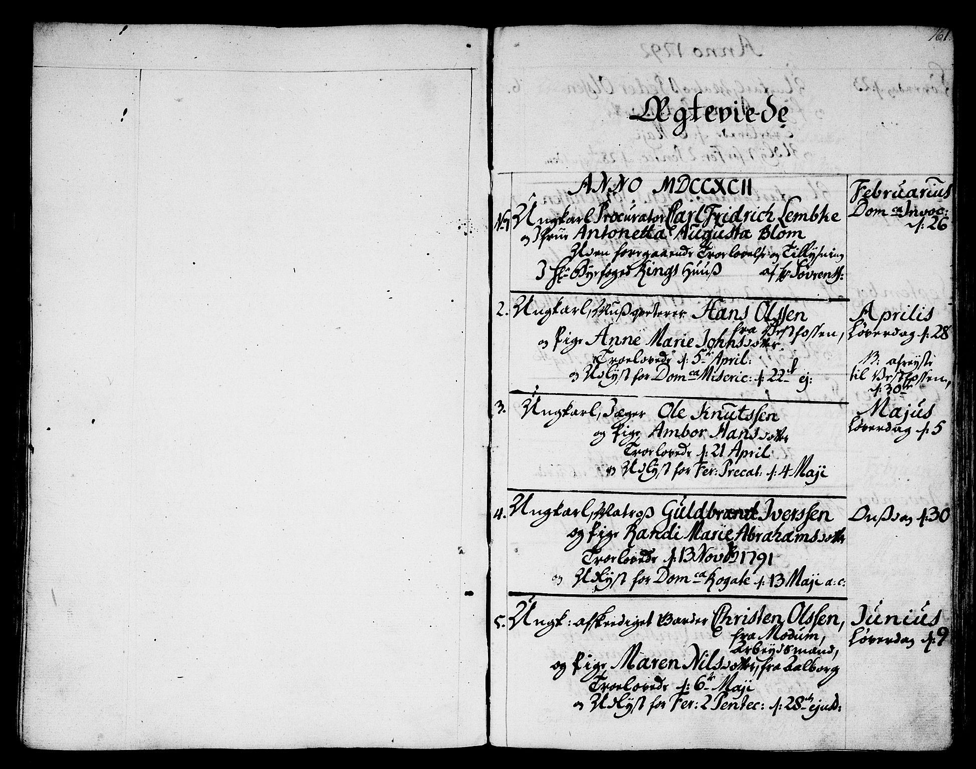 SAKO, Strømsø kirkebøker, F/Fa/L0010: Ministerialbok nr. I 10, 1792-1822, s. 161