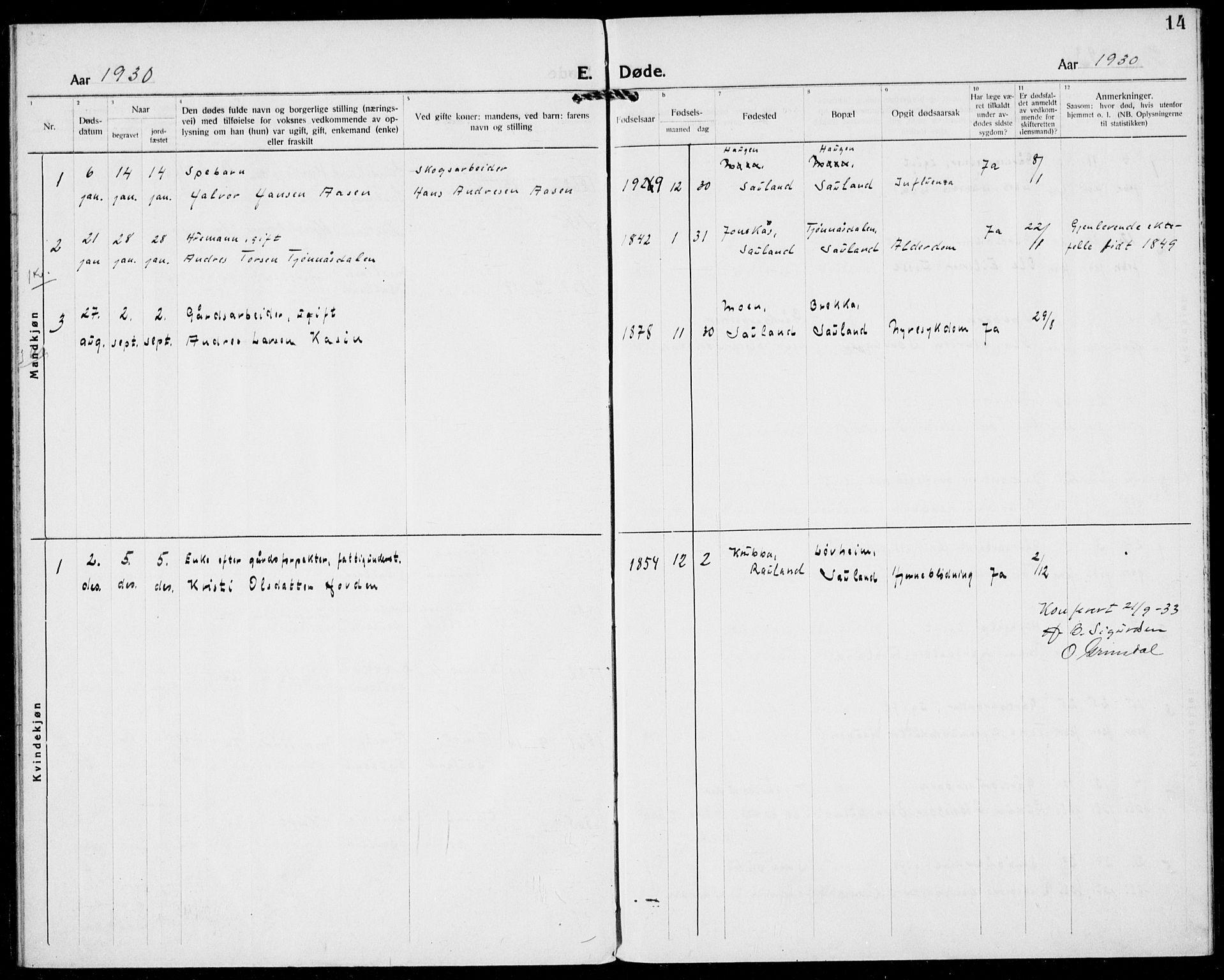 SAKO, Hjartdal kirkebøker, F/Fb/L0002: Ministerialbok nr. II 2, 1880-1932, s. 14