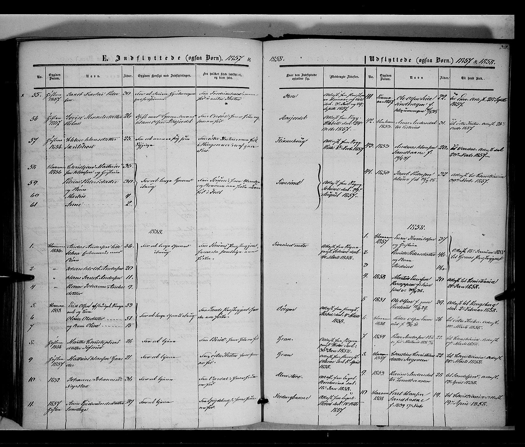 SAH, Vestre Toten prestekontor, H/Ha/Haa/L0006: Ministerialbok nr. 6, 1856-1861, s. 310