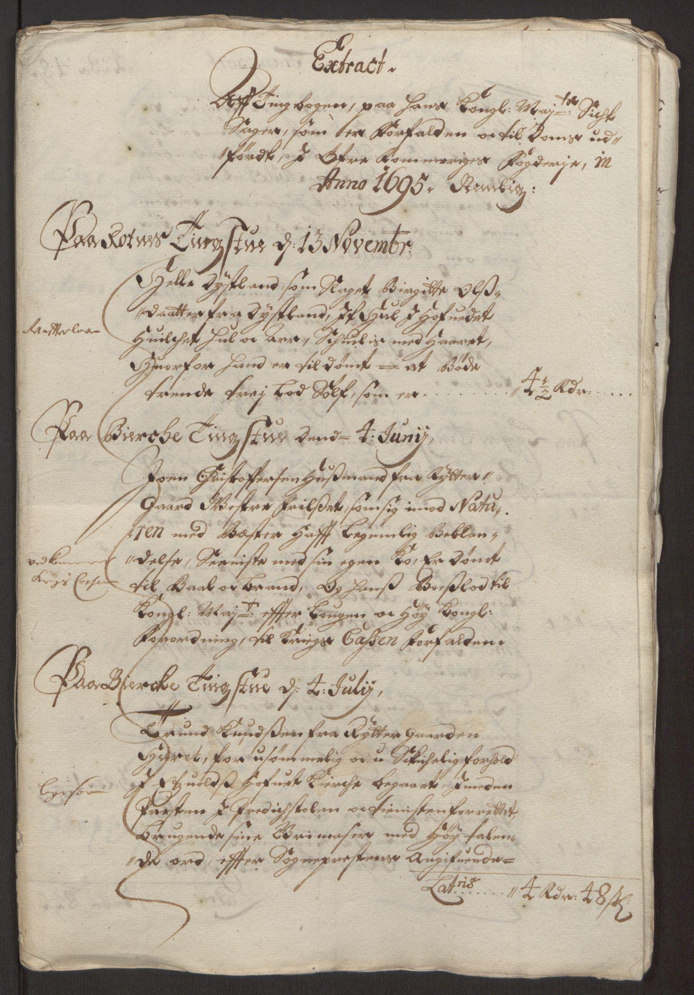 RA, Rentekammeret inntil 1814, Reviderte regnskaper, Fogderegnskap, R12/L0707: Fogderegnskap Øvre Romerike, 1695, s. 56