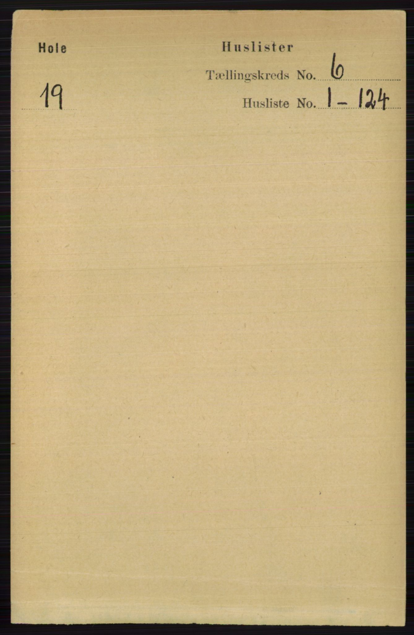 RA, Folketelling 1891 for 0612 Hole herred, 1891, s. 2970