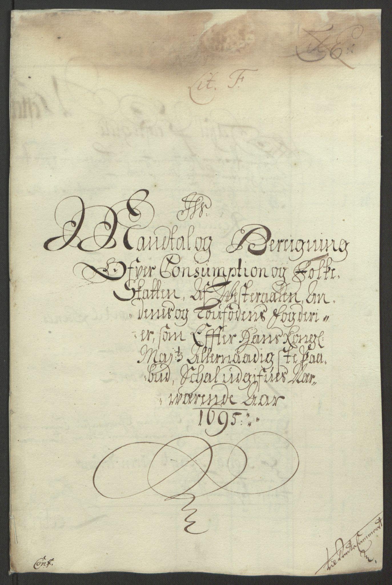 RA, Rentekammeret inntil 1814, Reviderte regnskaper, Fogderegnskap, R67/L4677: Fogderegnskap Vesterålen, Andenes og Lofoten, 1694-1695, s. 249