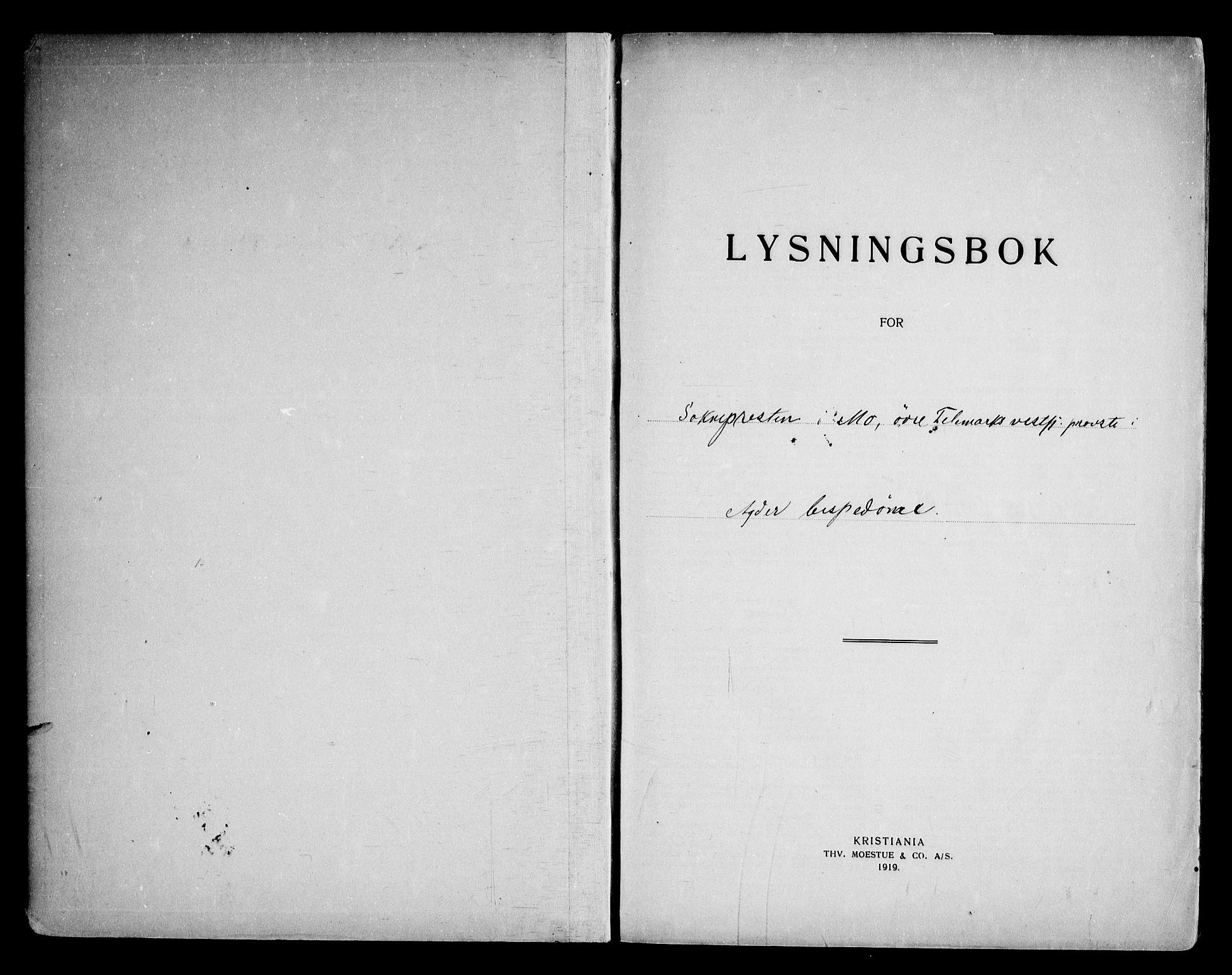 SAKO, Mo kirkebøker, H/Ha/L0001: Lysningsprotokoll nr. 1, 1919-1969