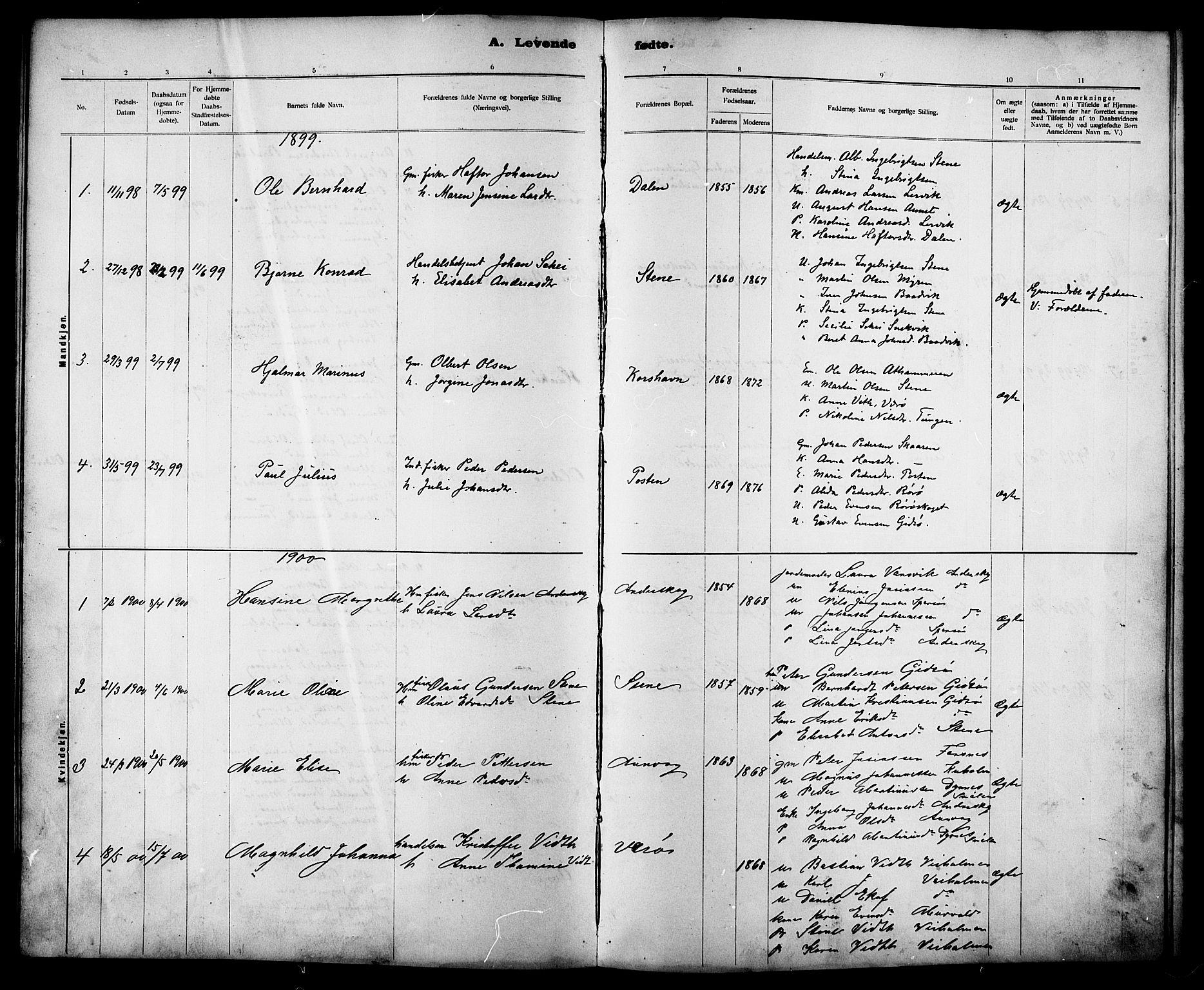 SAT, Ministerialprotokoller, klokkerbøker og fødselsregistre - Sør-Trøndelag, 635/L0553: Klokkerbok nr. 635C01, 1898-1919
