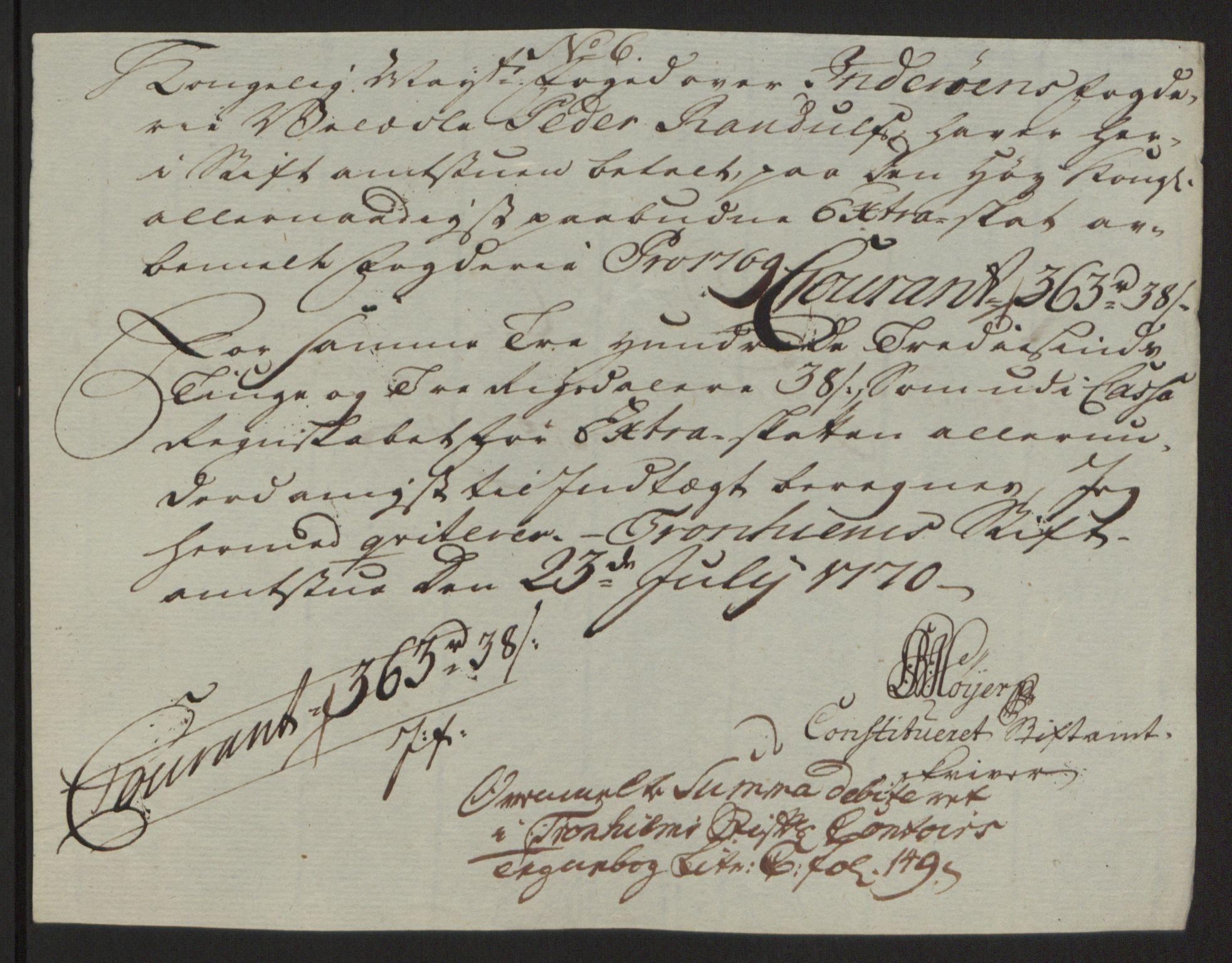 RA, Rentekammeret inntil 1814, Reviderte regnskaper, Fogderegnskap, R63/L4420: Ekstraskatten Inderøy, 1762-1772, s. 371