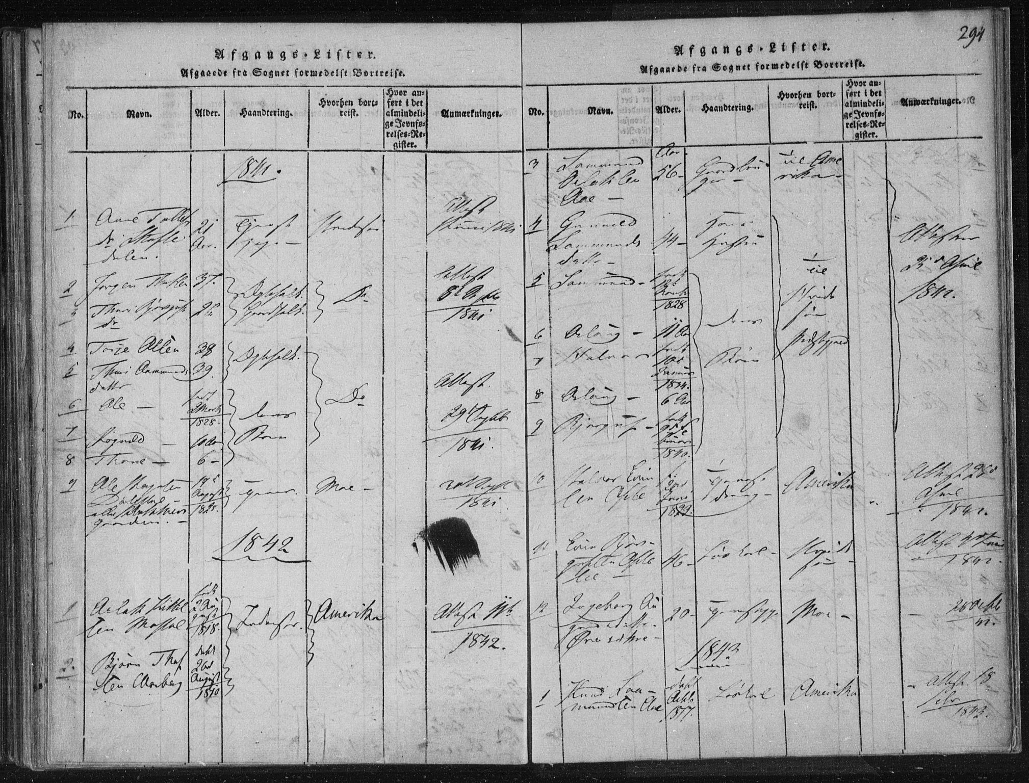 SAKO, Lårdal kirkebøker, F/Fc/L0001: Ministerialbok nr. III 1, 1815-1860, s. 294