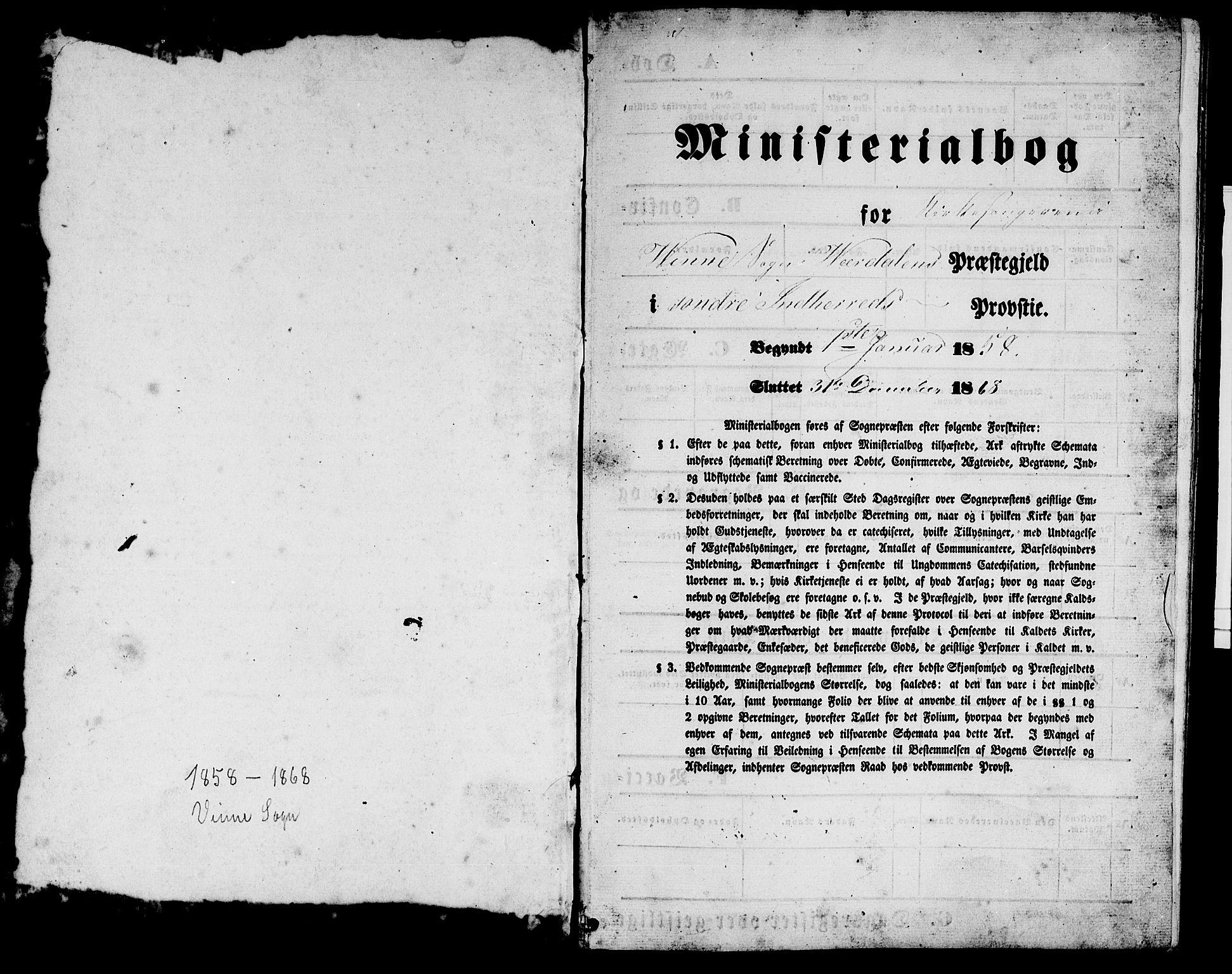 SAT, Ministerialprotokoller, klokkerbøker og fødselsregistre - Nord-Trøndelag, 726/L0270: Klokkerbok nr. 726C01, 1858-1868