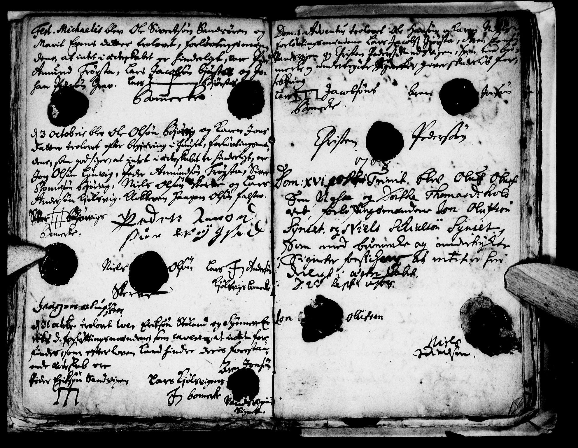 SAT, Ministerialprotokoller, klokkerbøker og fødselsregistre - Nord-Trøndelag, 722/L0214: Ministerialbok nr. 722A01, 1692-1718, s. 110