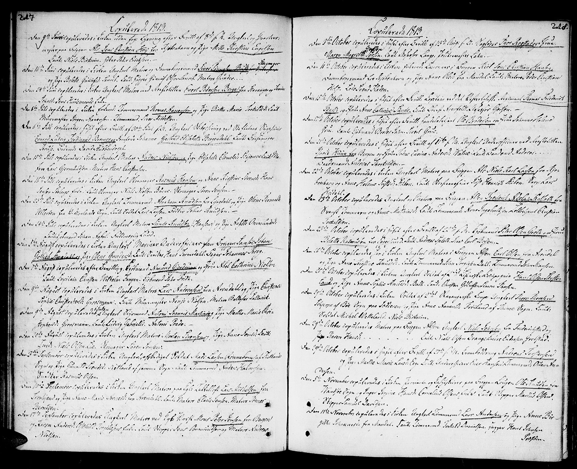 SAK, Kristiansand domprosti, F/Fa/L0005: Ministerialbok nr. A 5, 1776-1818, s. 217-218