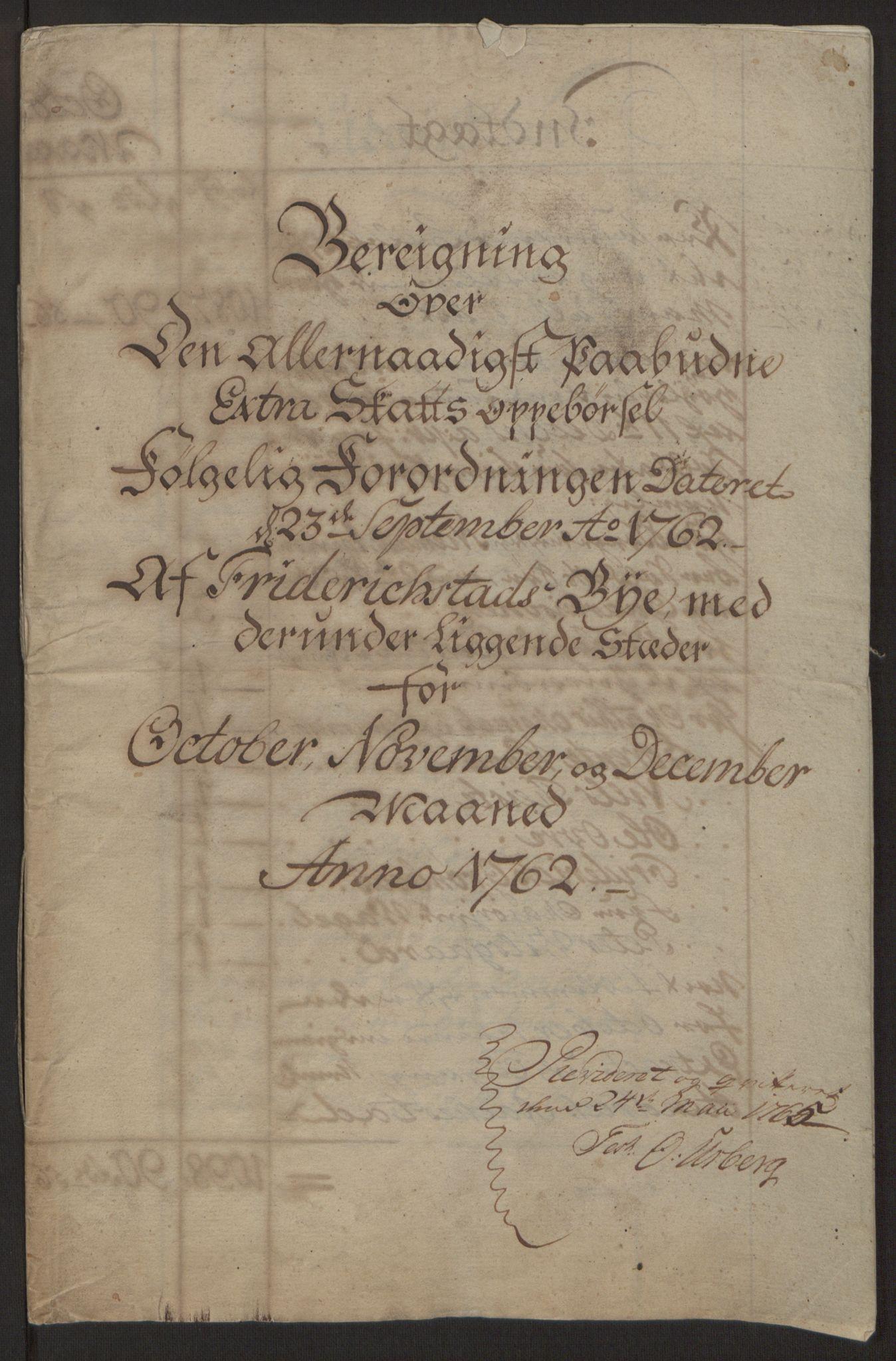 RA, Rentekammeret inntil 1814, Reviderte regnskaper, Byregnskaper, R/Rb/L0029: [B3] Kontribusjonsregnskap, 1762-1772, s. 4