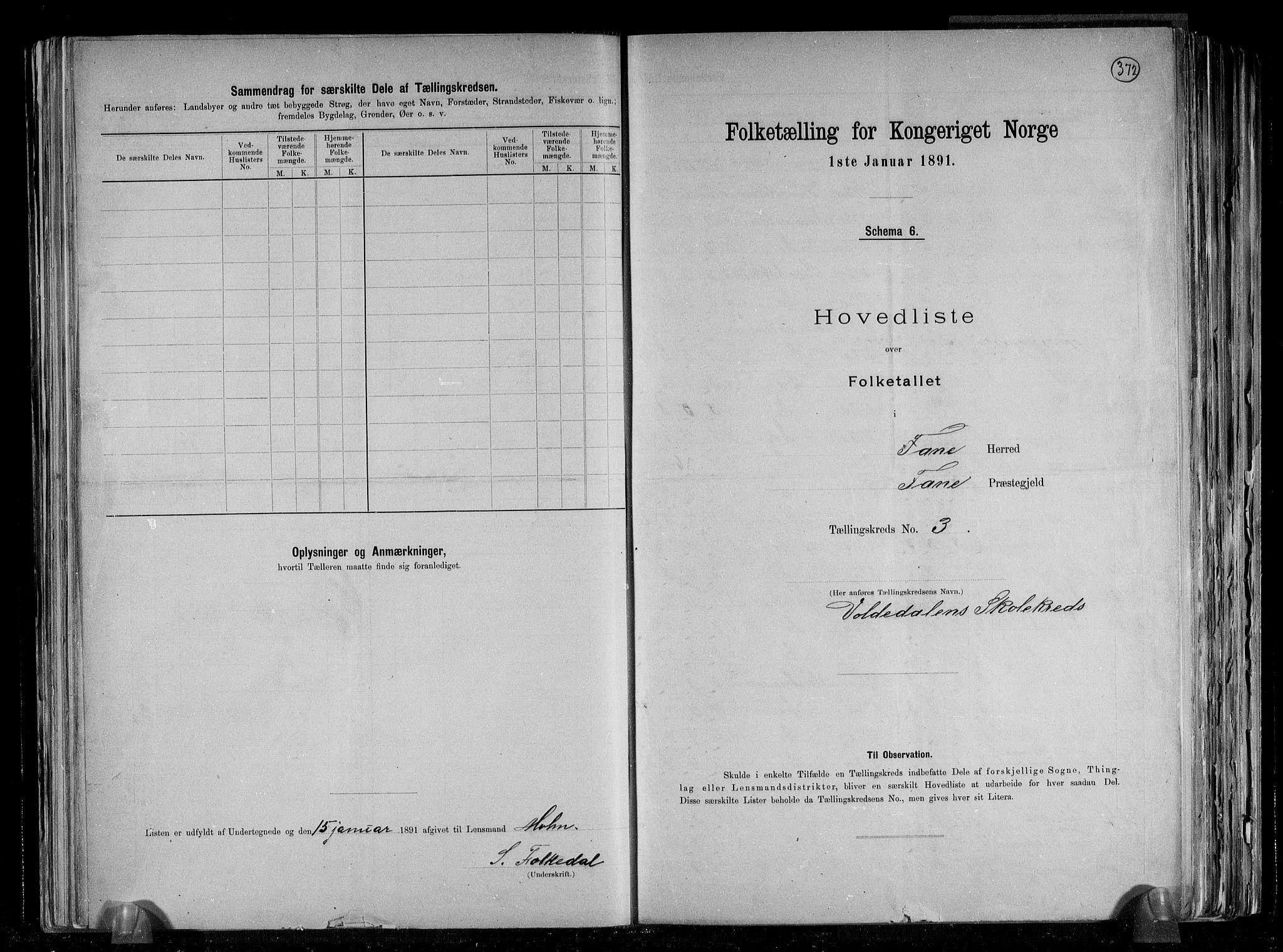 RA, Folketelling 1891 for 1249 Fana herred, 1891, s. 8