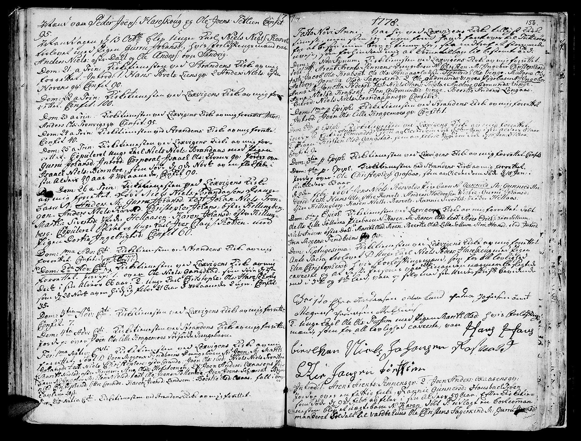 SAT, Ministerialprotokoller, klokkerbøker og fødselsregistre - Nord-Trøndelag, 701/L0003: Ministerialbok nr. 701A03, 1751-1783, s. 156