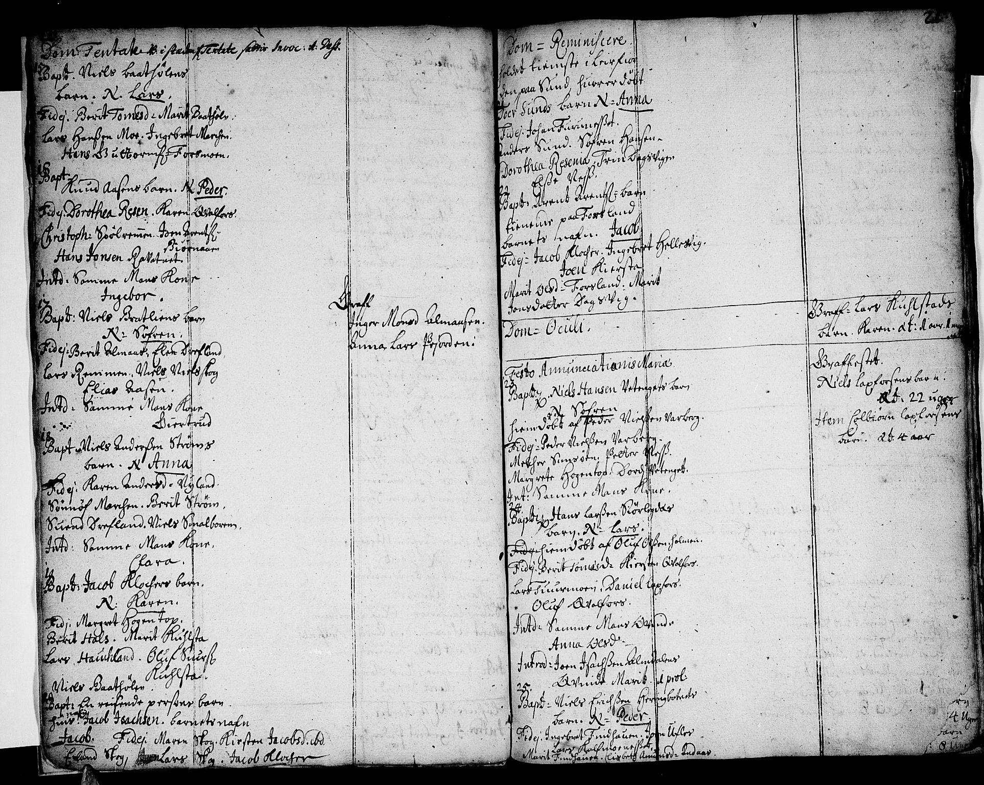 SAT, Ministerialprotokoller, klokkerbøker og fødselsregistre - Nordland, 820/L0281: Ministerialbok nr. 820A02, 1712-1720, s. 20-21